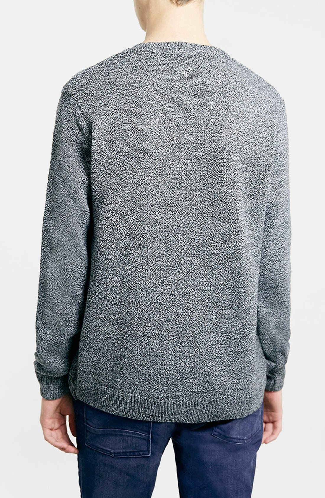 TOPMAN,                             Merry Christmas Crewneck Sweater,                             Alternate thumbnail 4, color,                             400