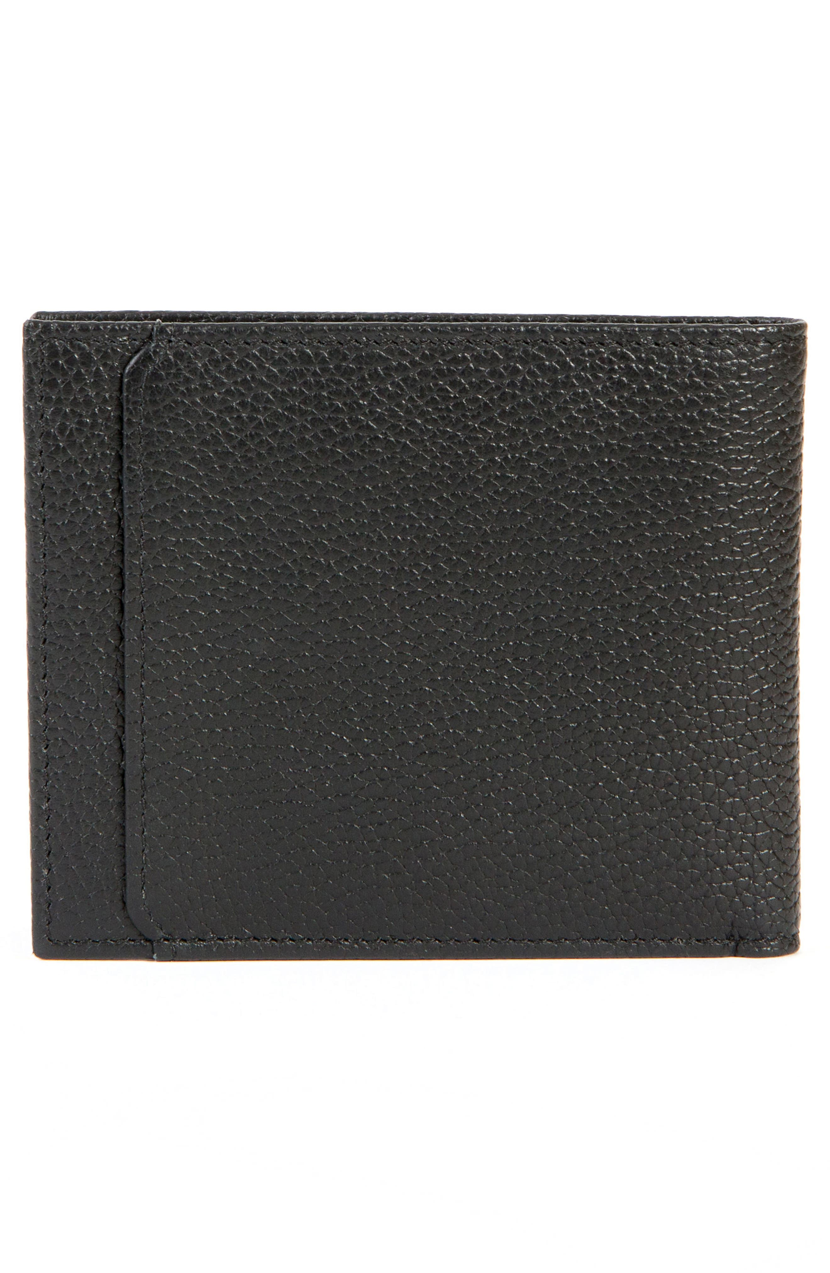 Garth Leather Bifold Wallet,                             Alternate thumbnail 3, color,                             001