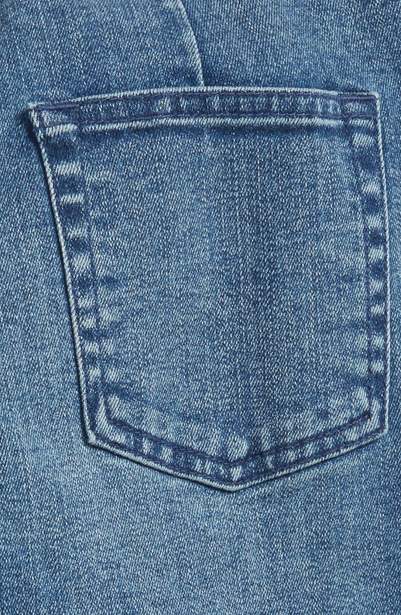 Pull-On Denim Pants,                             Alternate thumbnail 3, color,                             MEDIUM WASH