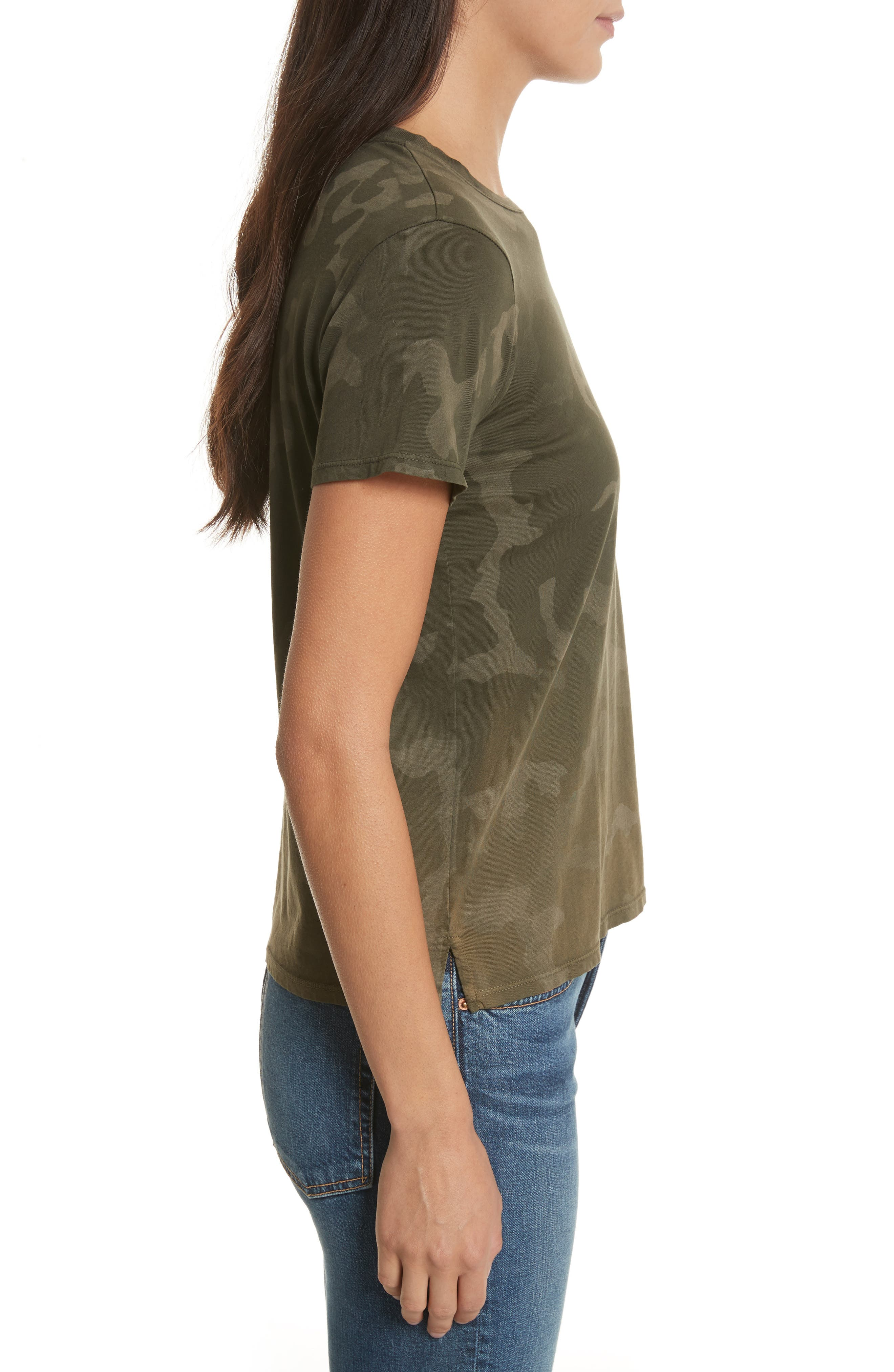 Camouflage Print Cotton Tee,                             Alternate thumbnail 3, color,                             341