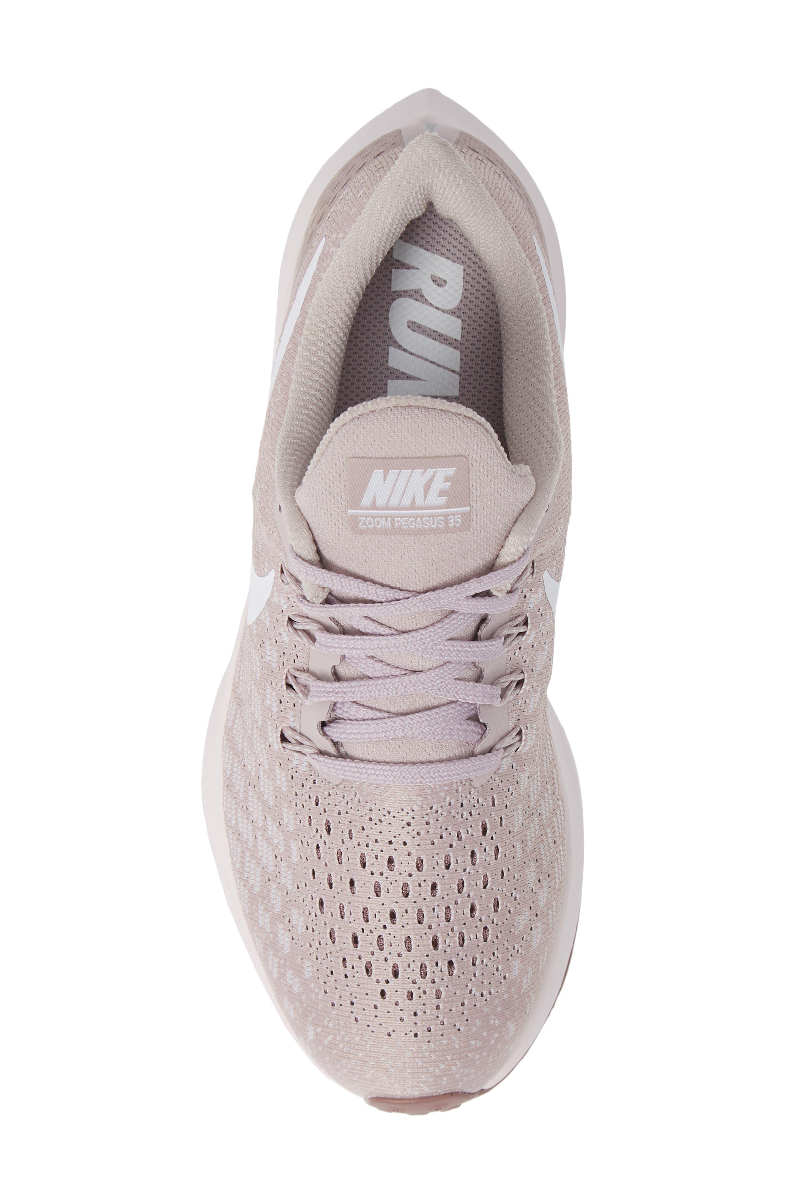 NIKE,                             Air Zoom Pegasus 35 Running Shoe,                             Alternate thumbnail 5, color,                             ROSE/ WHITE-SMOKEY MAUVE