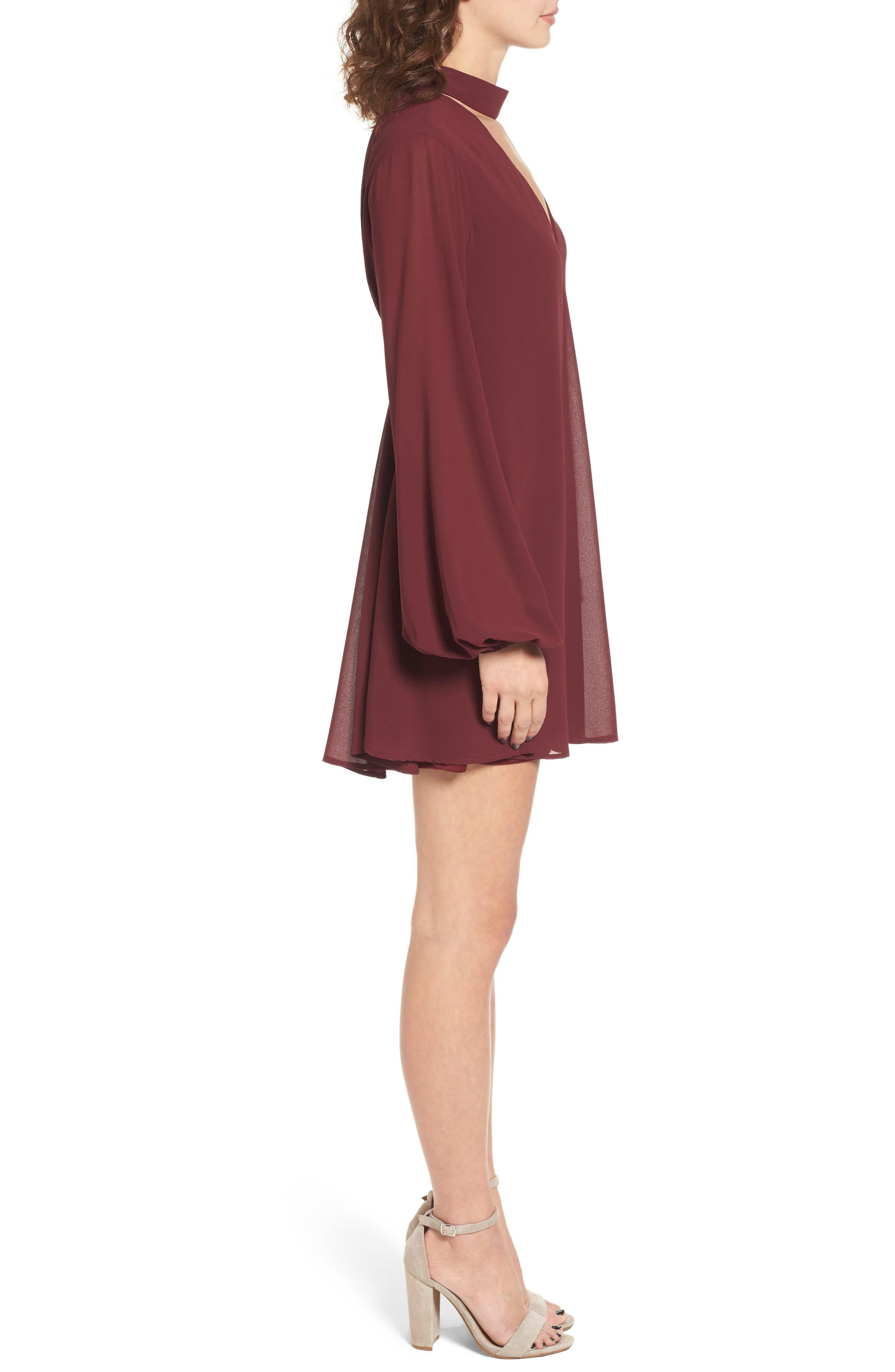 Josephine Choker Dress,                             Alternate thumbnail 3, color,                             930