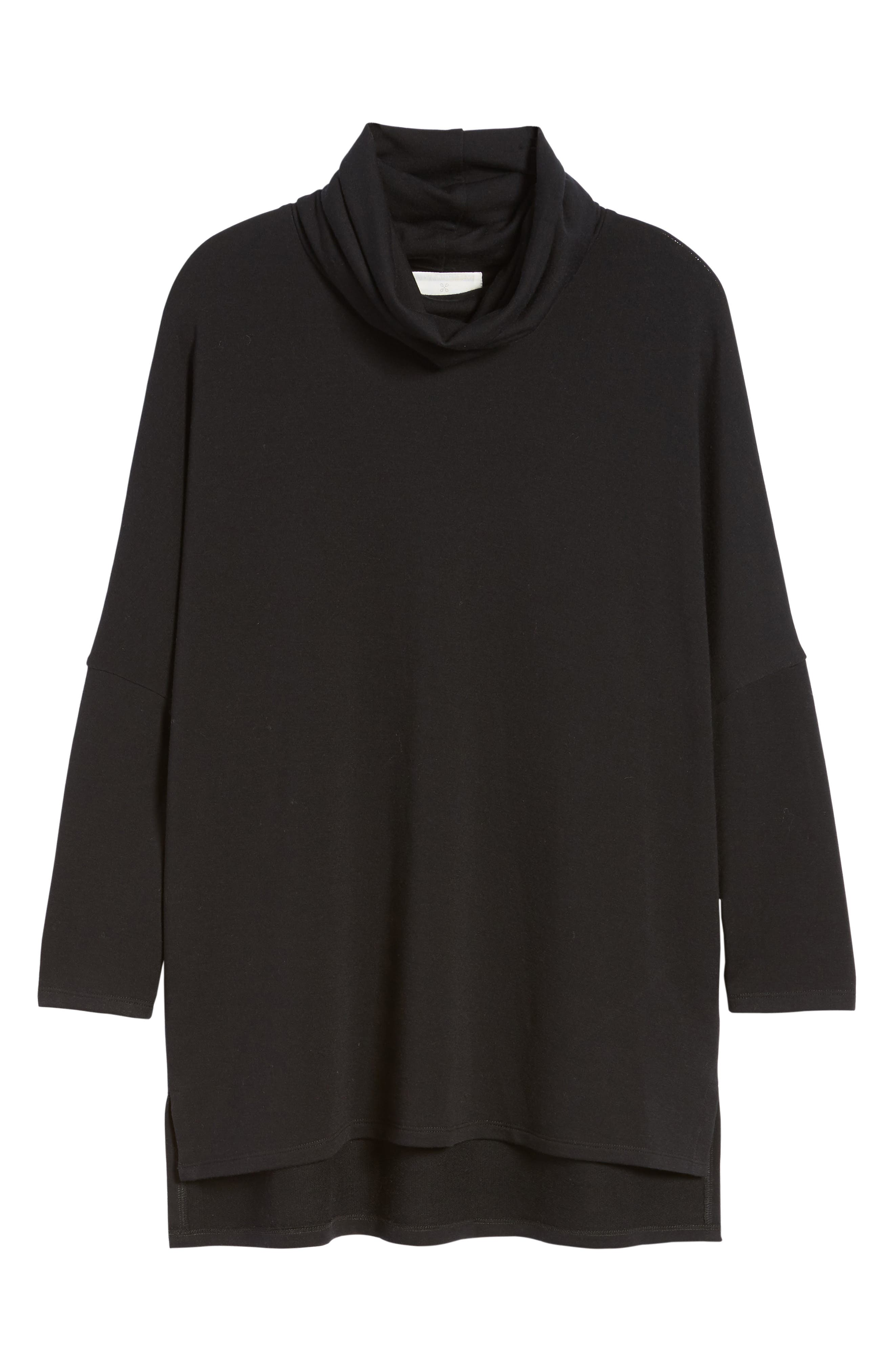High/Low Tunic,                             Alternate thumbnail 7, color,                             BLACK