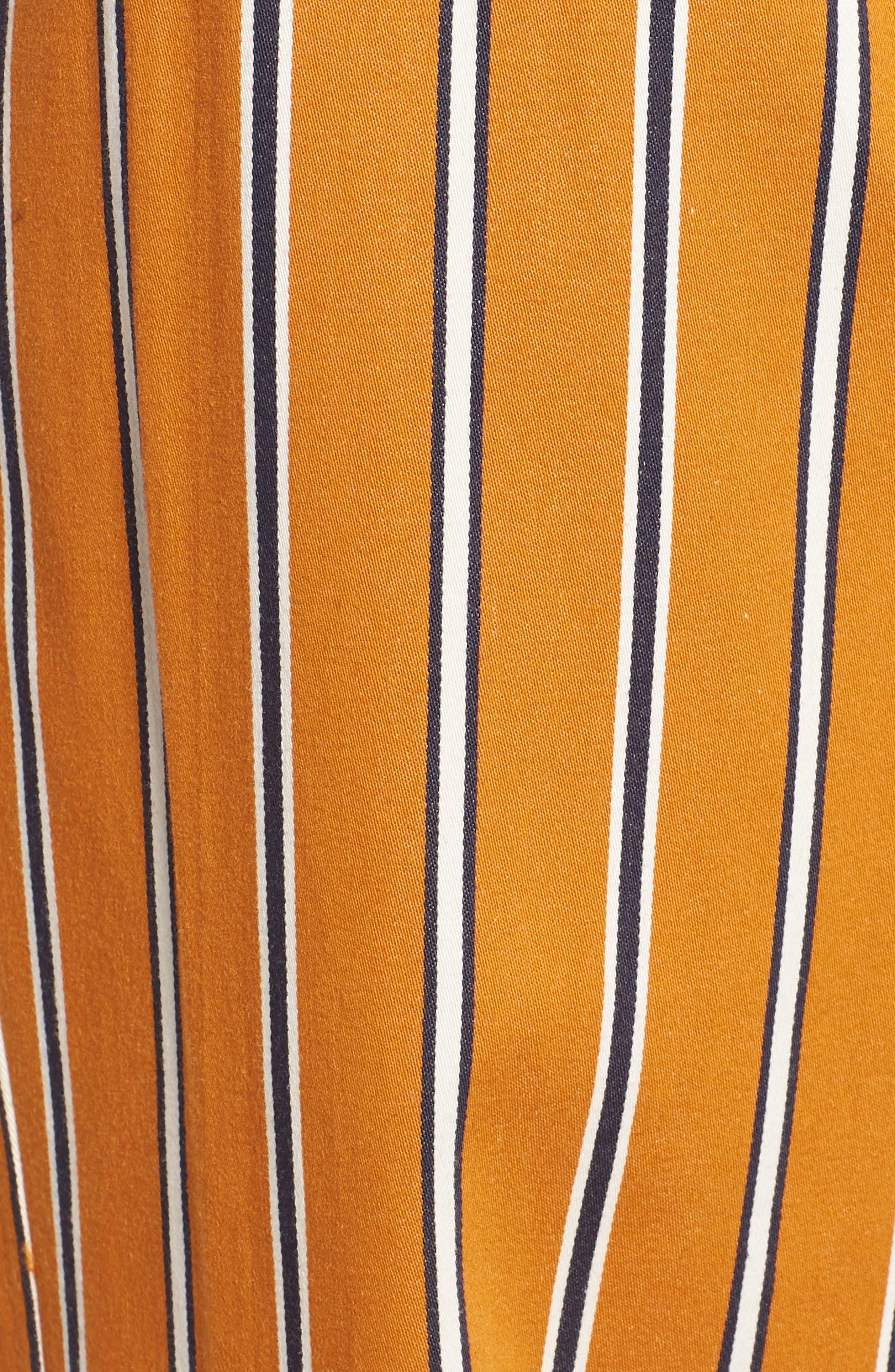 High Waist Wide Leg Stripe Pants,                             Alternate thumbnail 6, color,                             866