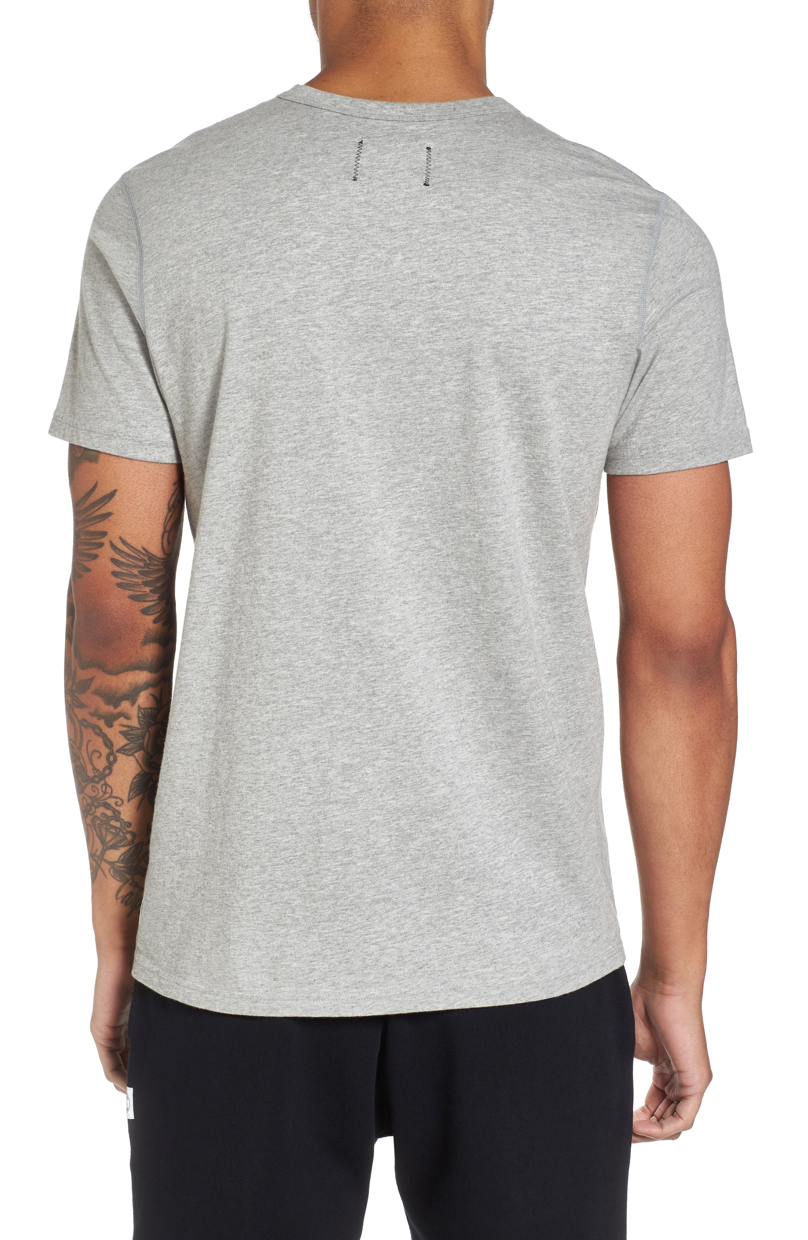 Gym Logo T-Shirt,                             Alternate thumbnail 2, color,                             H. GREY/ BLACK