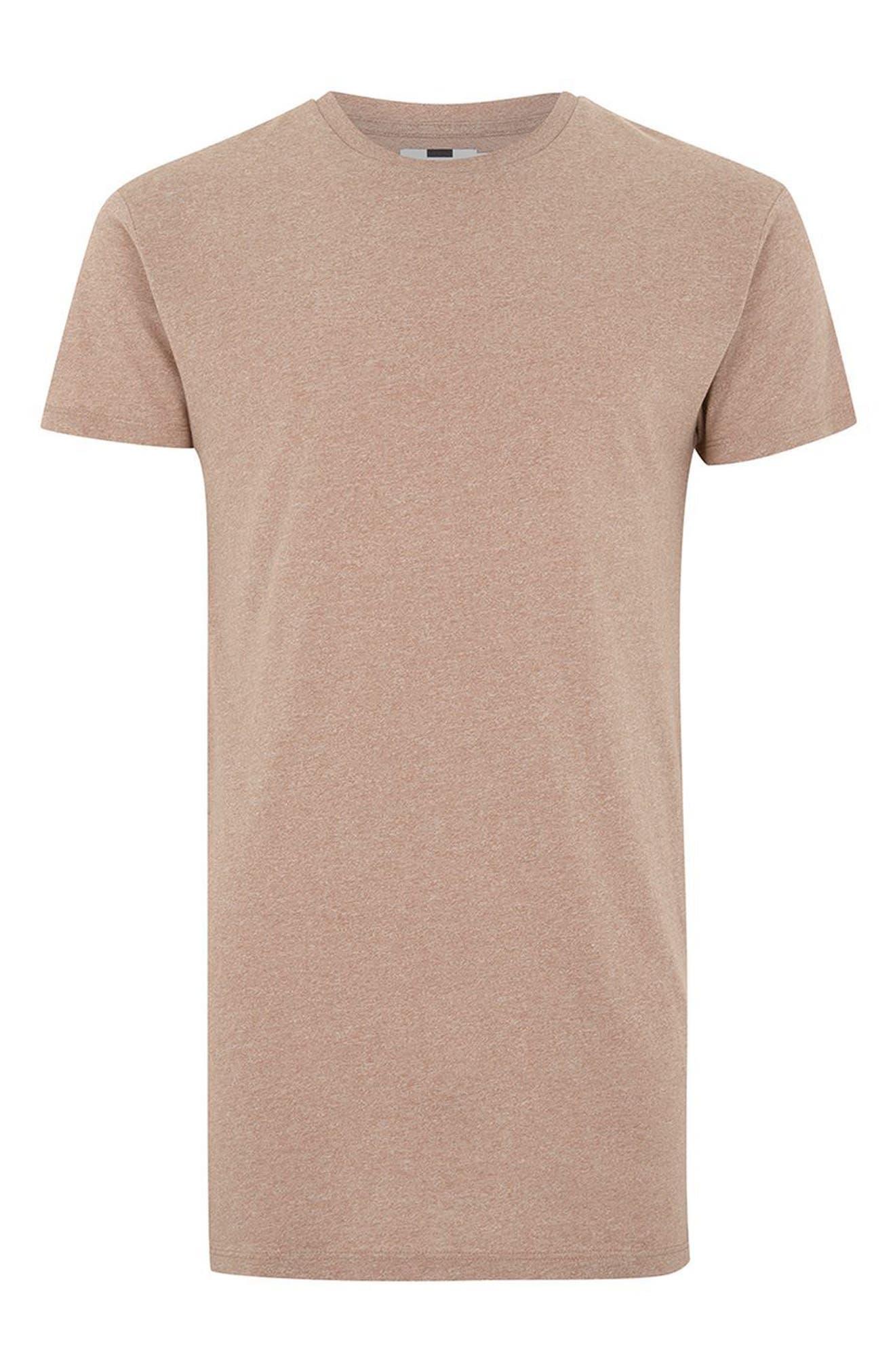 Muscle Fit Longline T-Shirt,                             Alternate thumbnail 6, color,