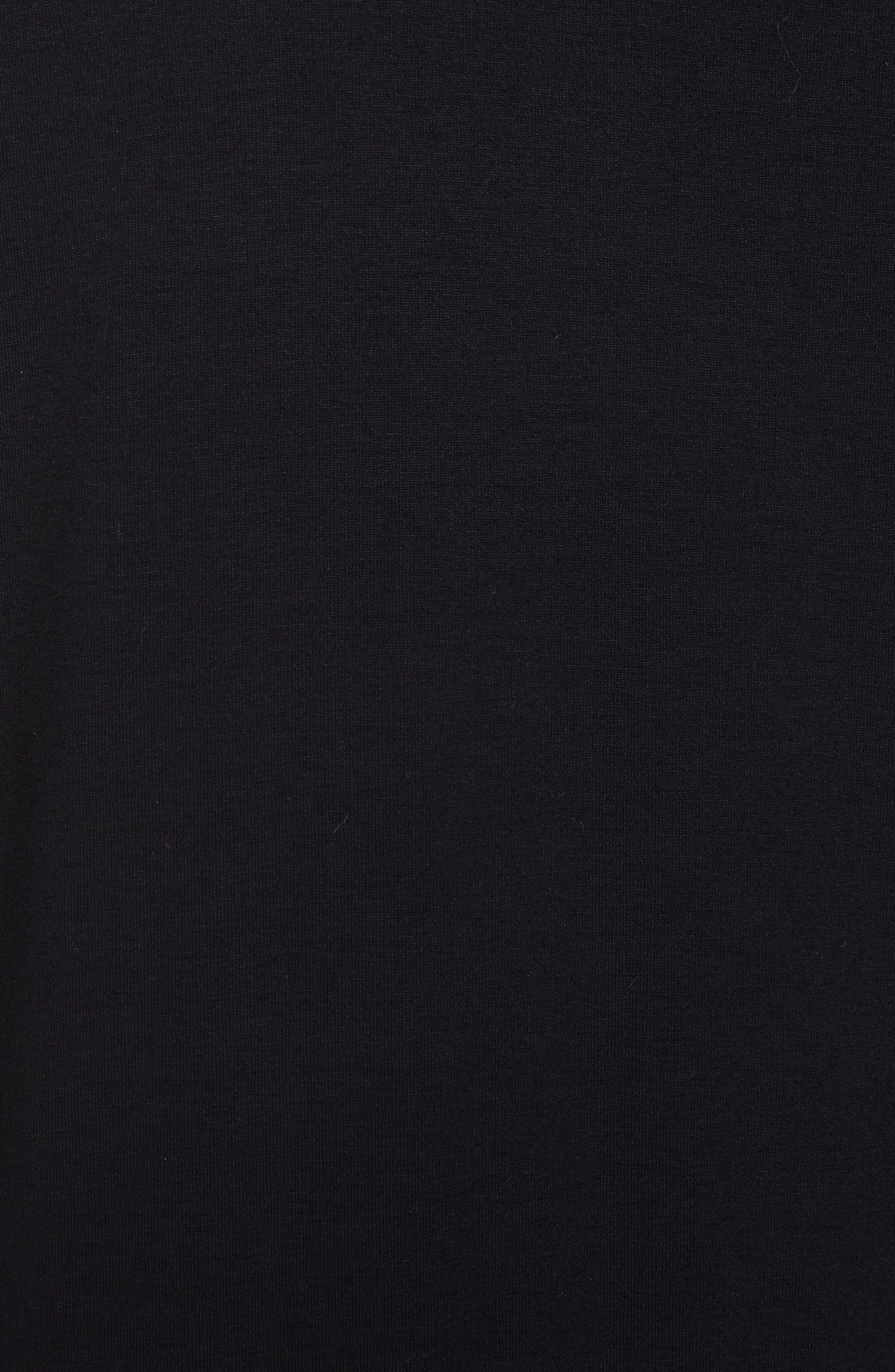 Drawstring Waist Dress,                             Alternate thumbnail 6, color,                             BLACK