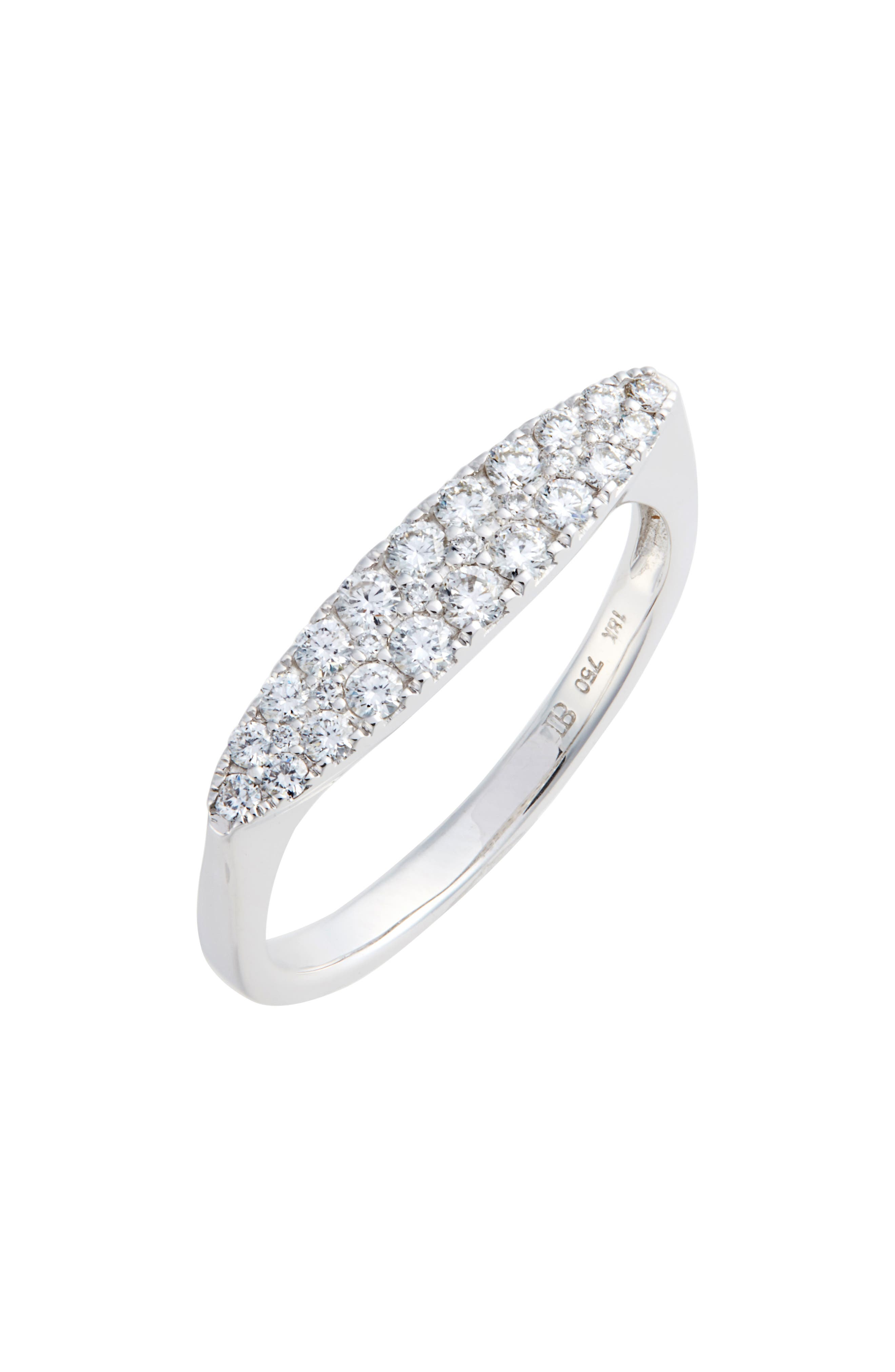 Oval Diamond Stacking Ring,                         Main,                         color, WHITE GOLD/ DIAMOND
