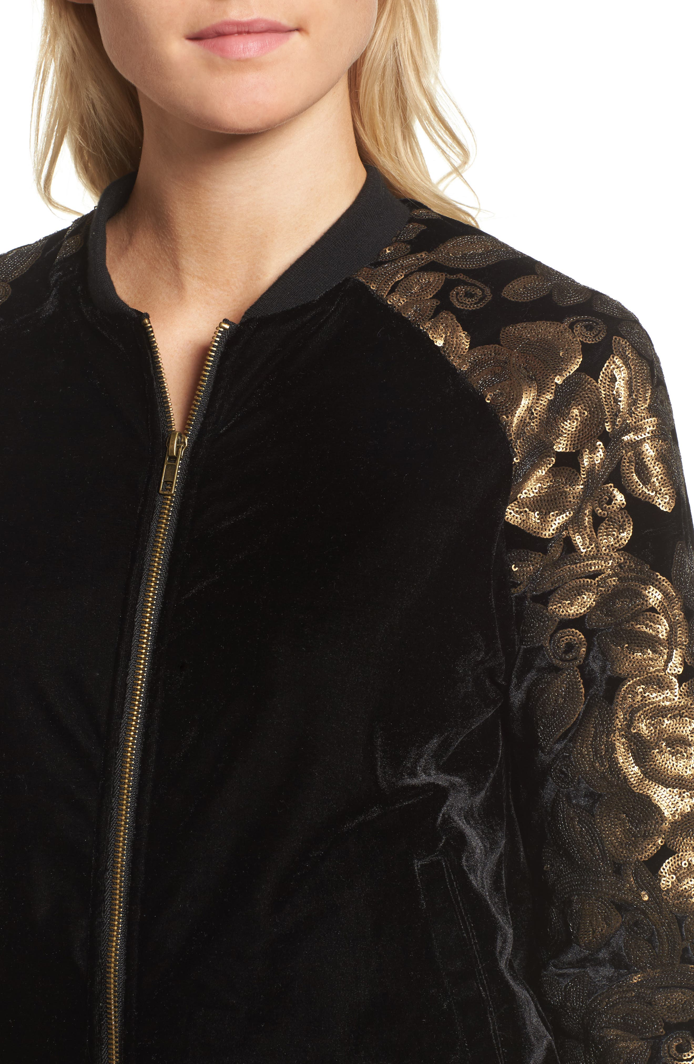 Axwell Bomber Jacket,                             Alternate thumbnail 4, color,                             001