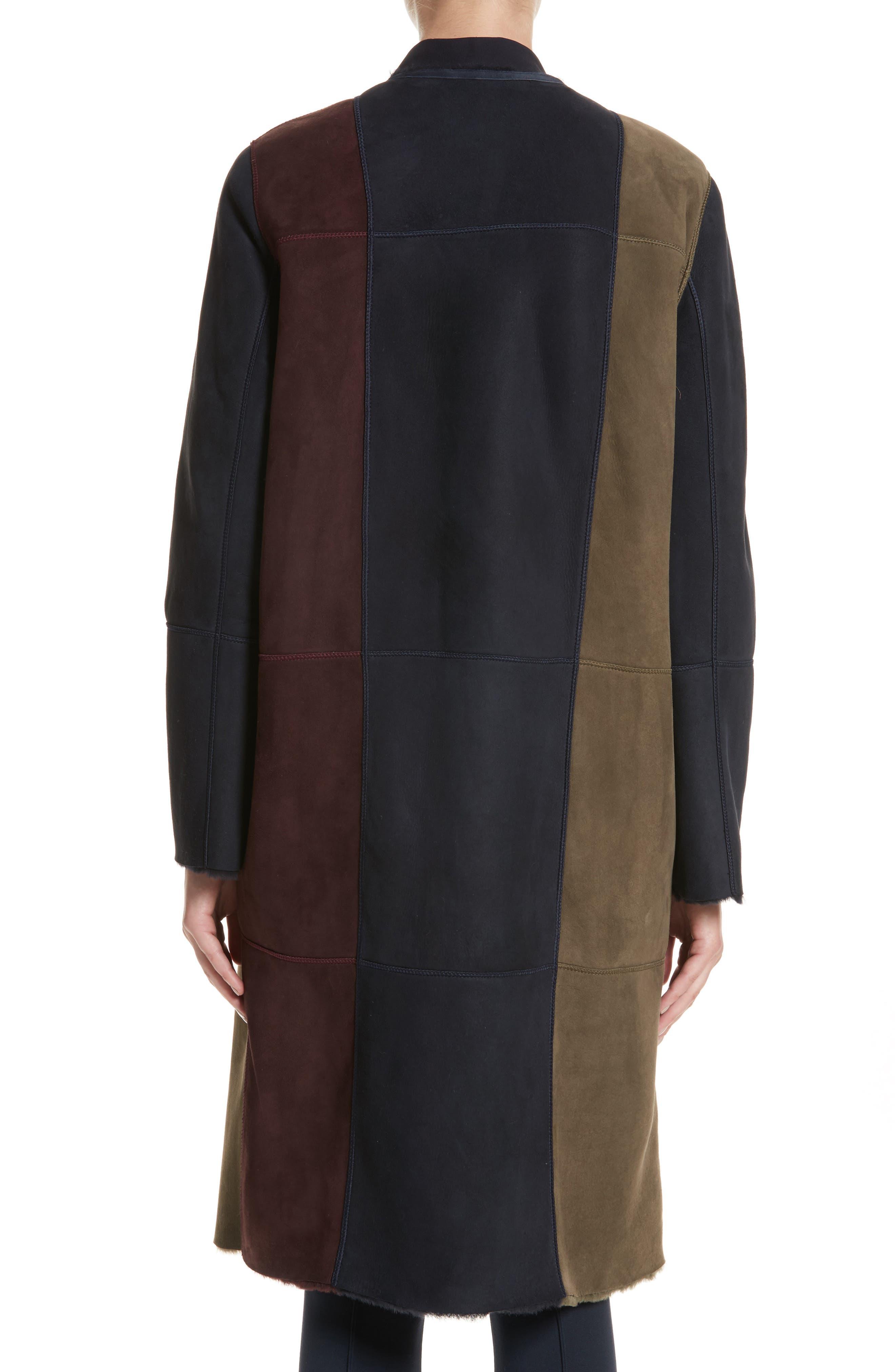 Robyn Reversible Genuine Shearling Coat,                             Alternate thumbnail 3, color,                             438