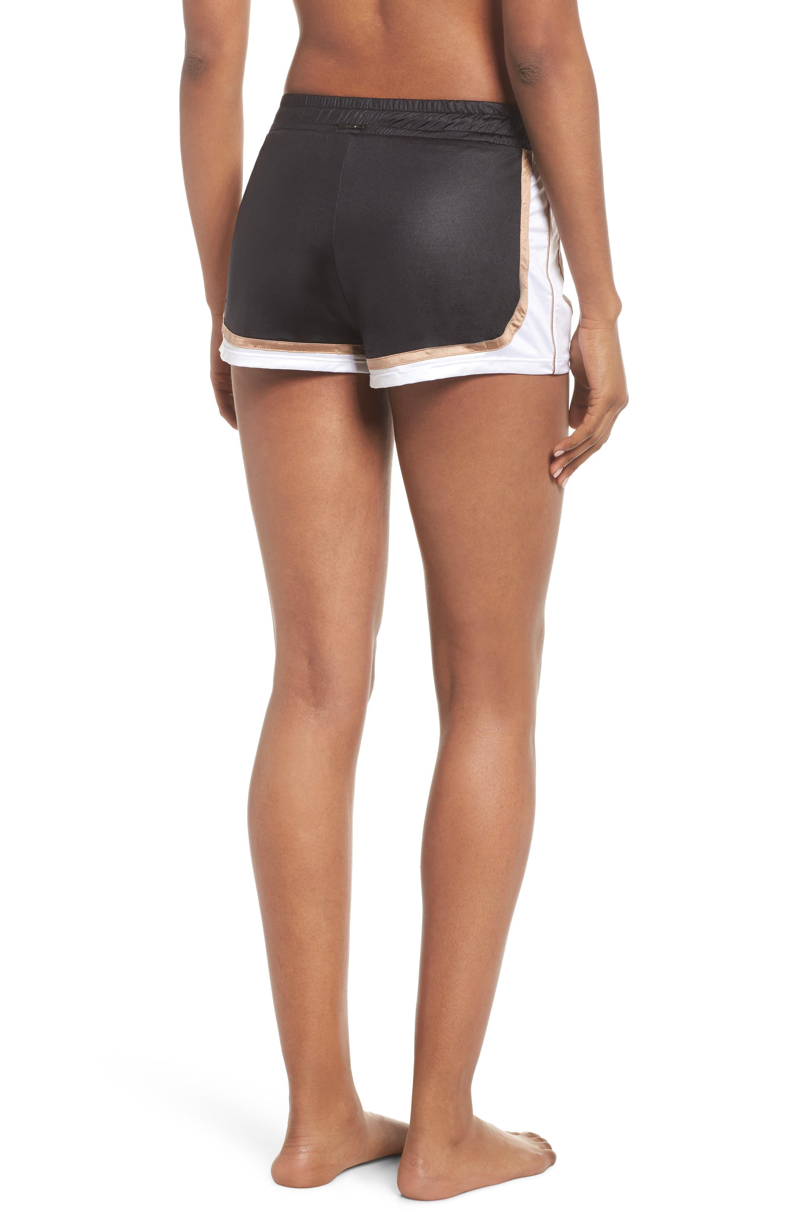 Blackout Shorts,                             Alternate thumbnail 2, color,                             BLACK/ NUDE/ WHITE