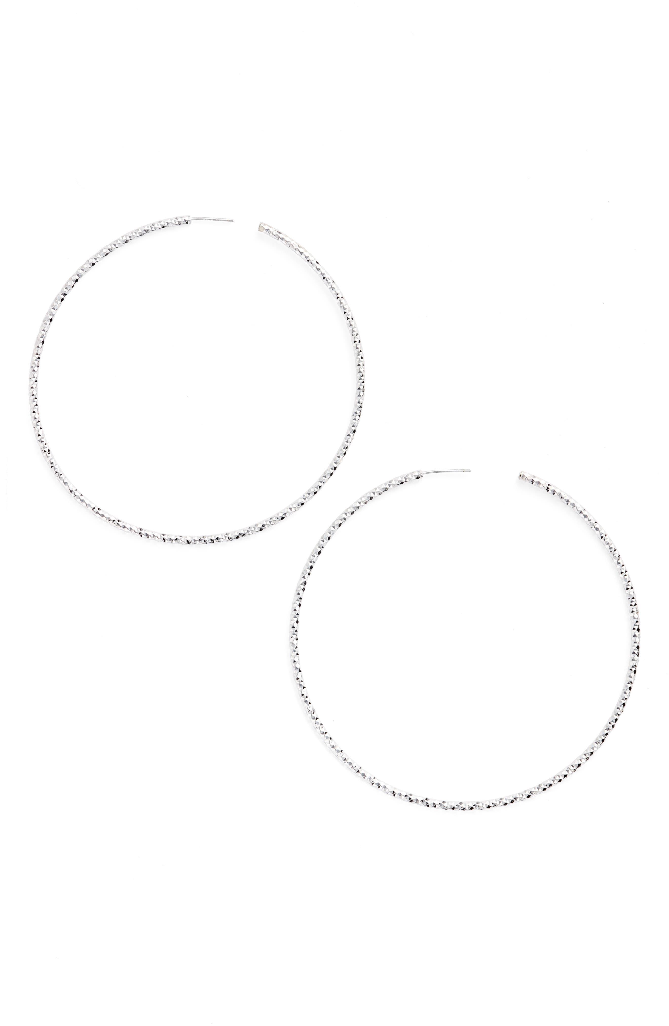 Large Hoop Earrings,                             Main thumbnail 1, color,                             040
