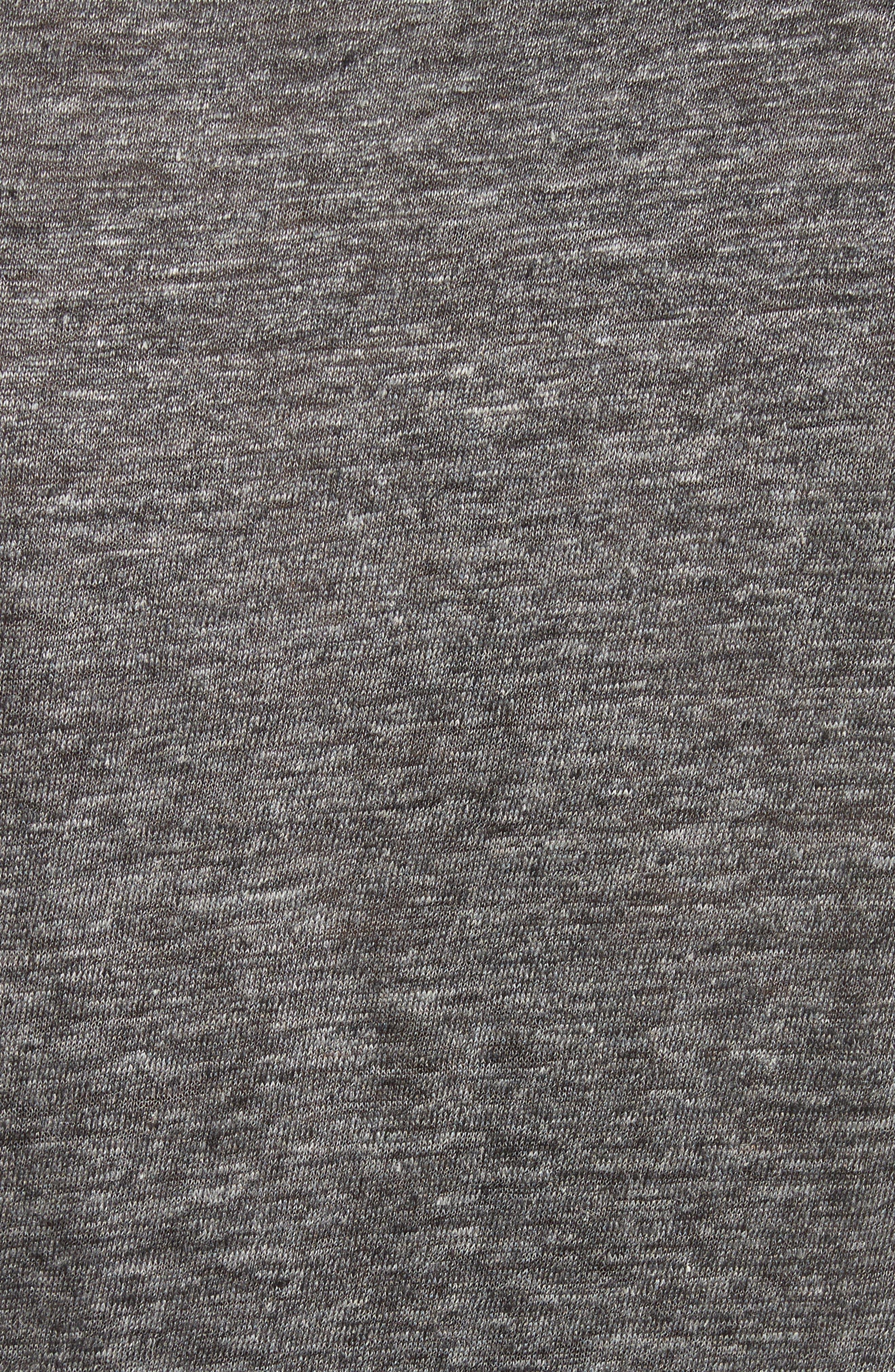 Stripe Linen Henley T-Shirt,                             Alternate thumbnail 5, color,                             014