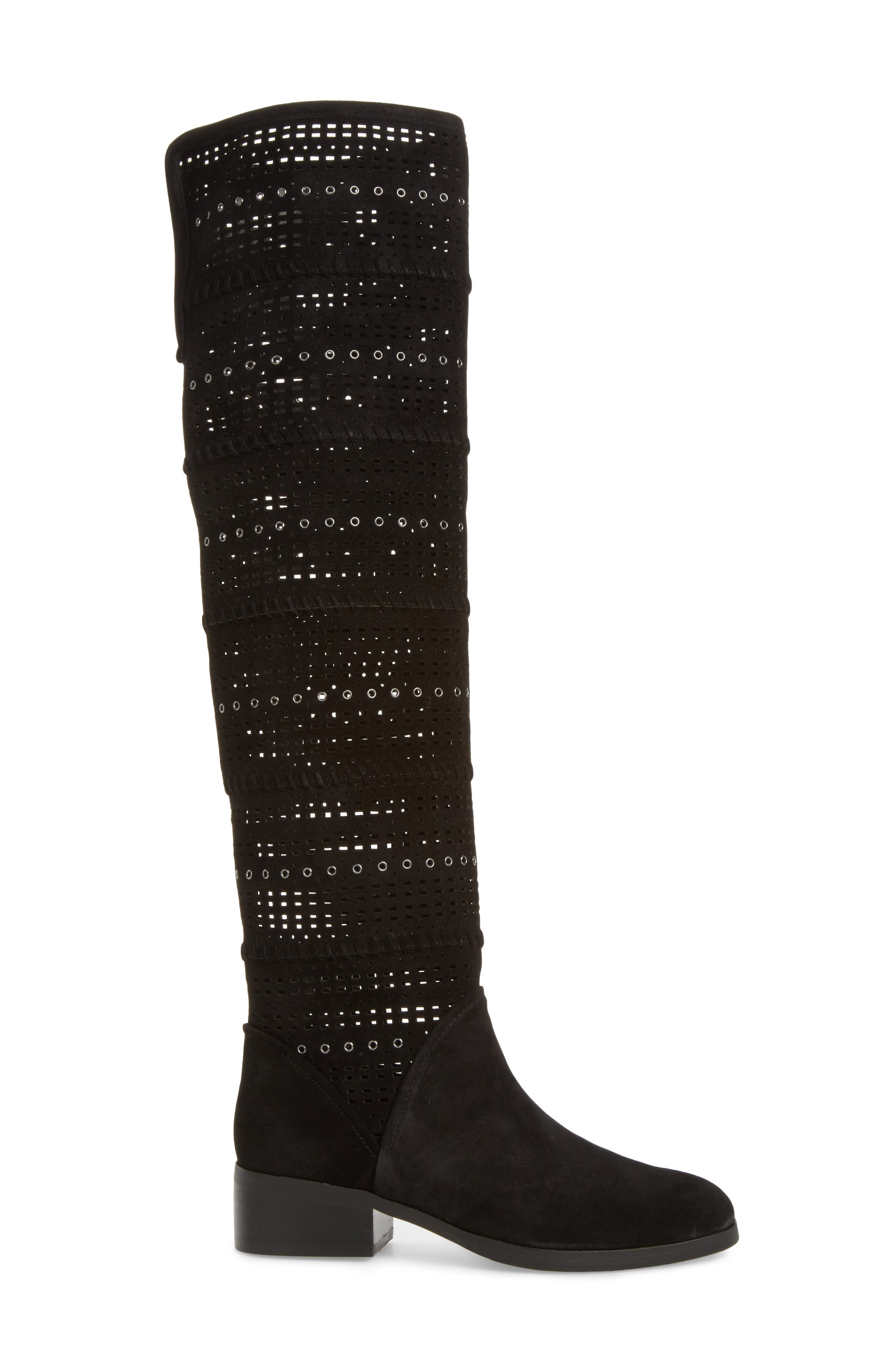 Devya Over the Knee Boot,                             Alternate thumbnail 3, color,                             001