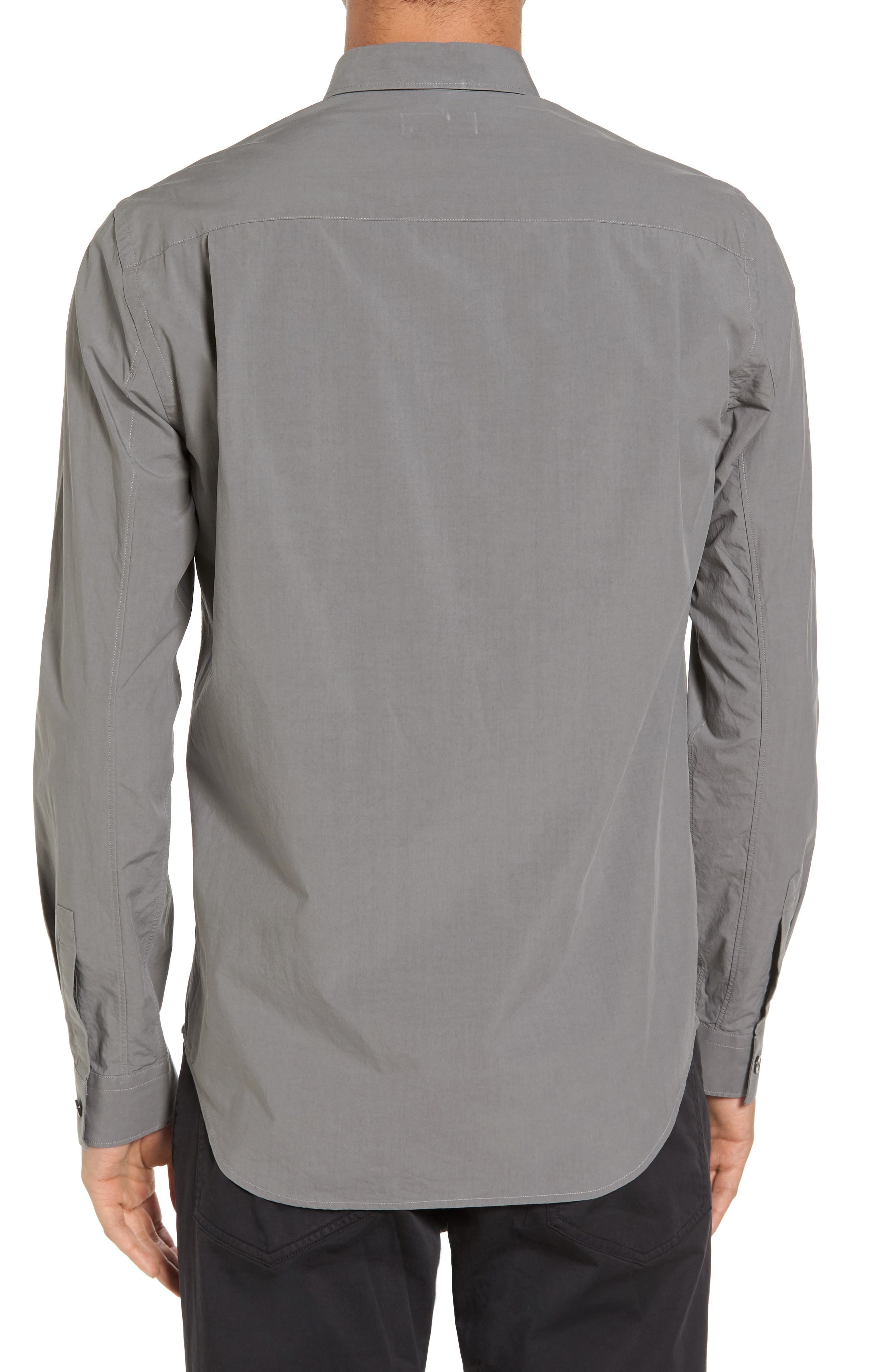 Rammy Trim Fit Solid Sport Shirt,                             Alternate thumbnail 2, color,                             020