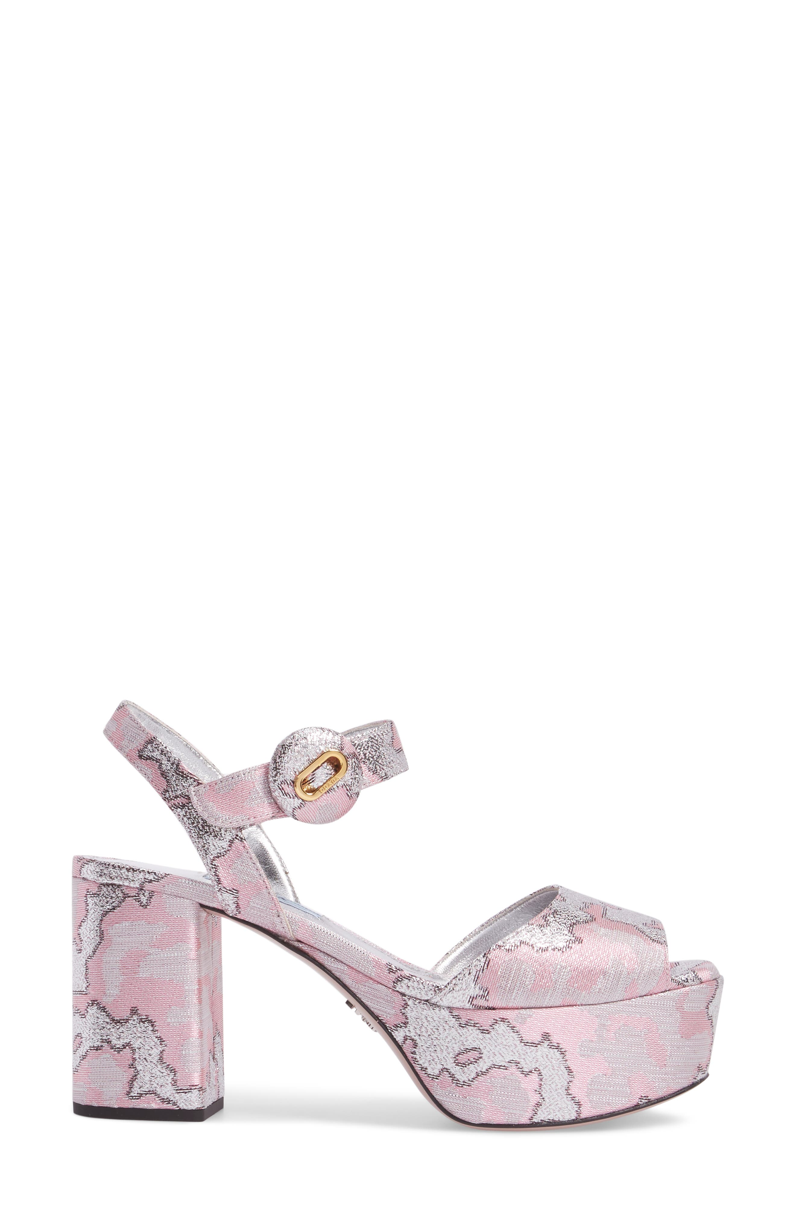 Ankle Strap Platform Sandal,                             Alternate thumbnail 3, color,