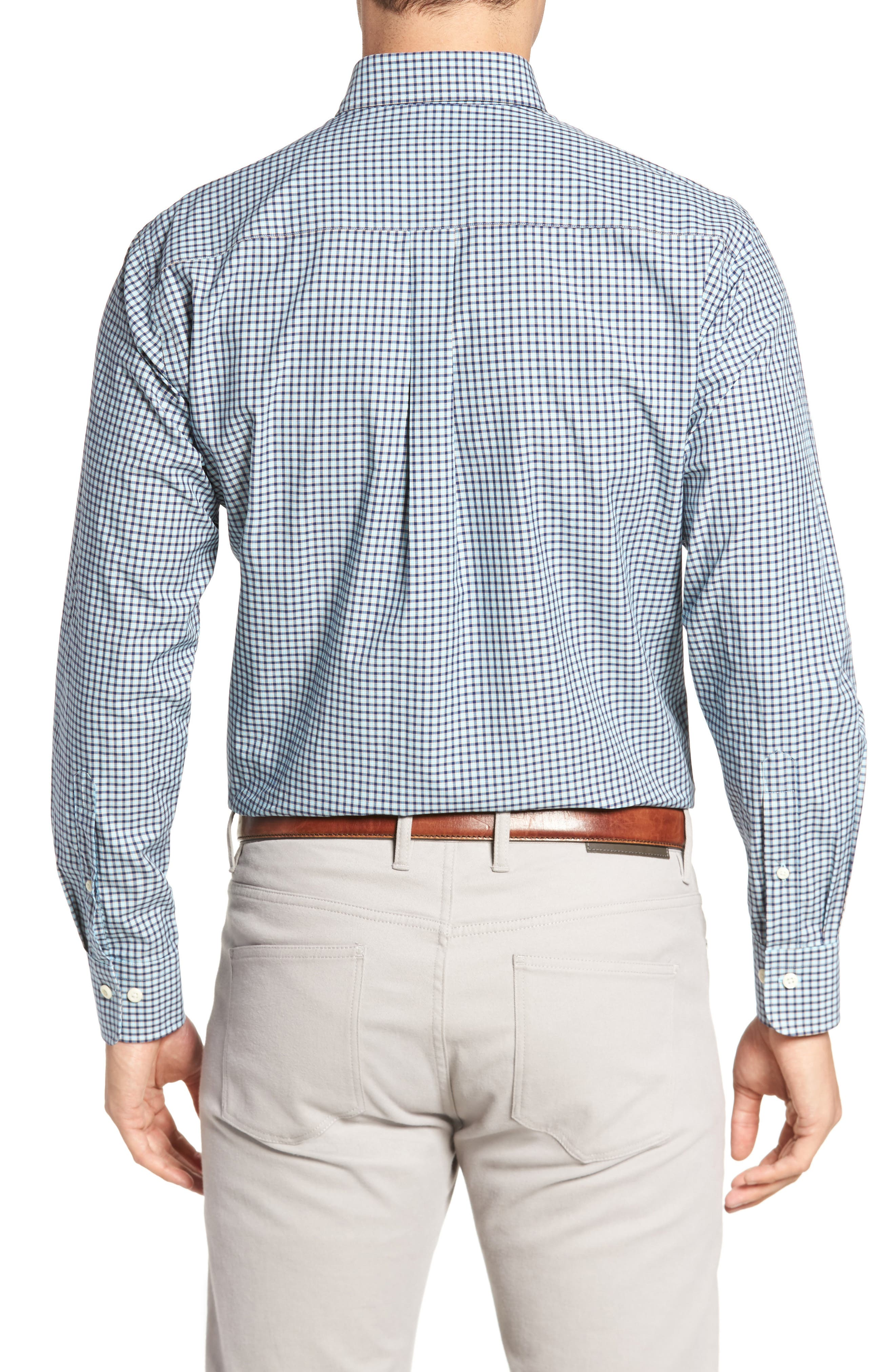 Classic Fit Alligator Check Sport Shirt,                             Alternate thumbnail 5, color,