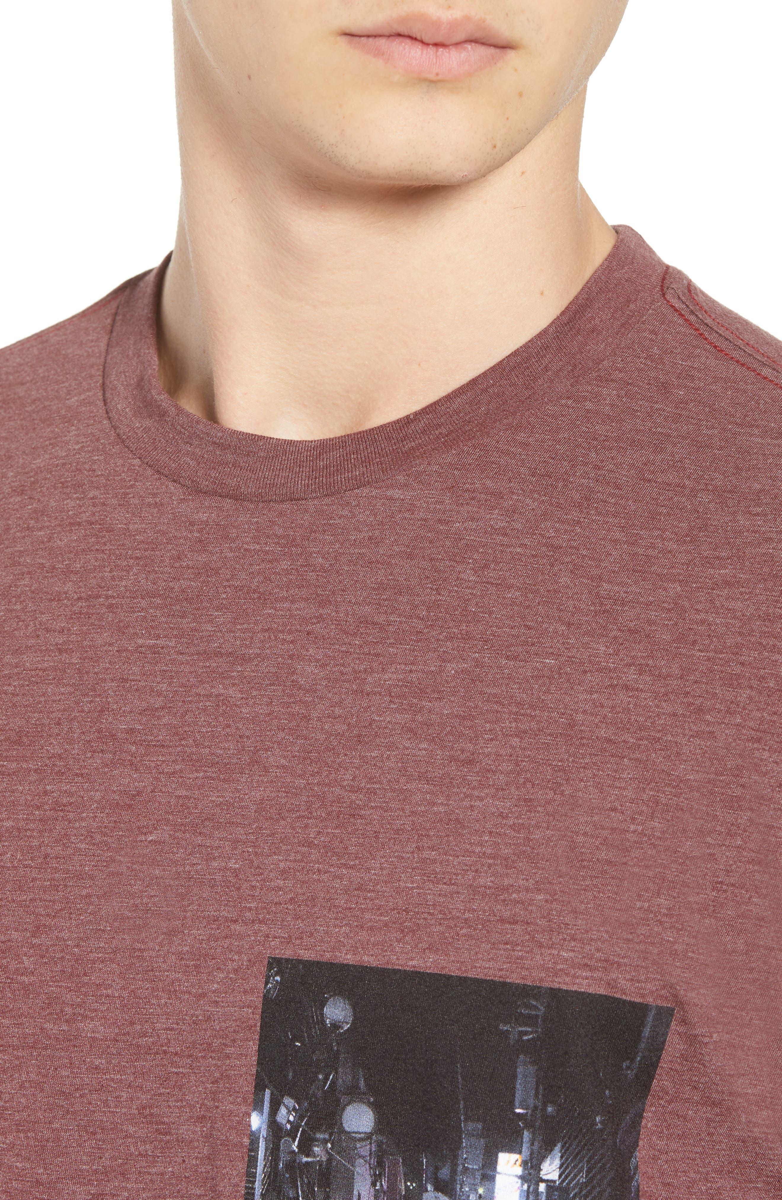 Curren Photo Graphic T-Shirt,                             Alternate thumbnail 4, color,                             BORDEAUX