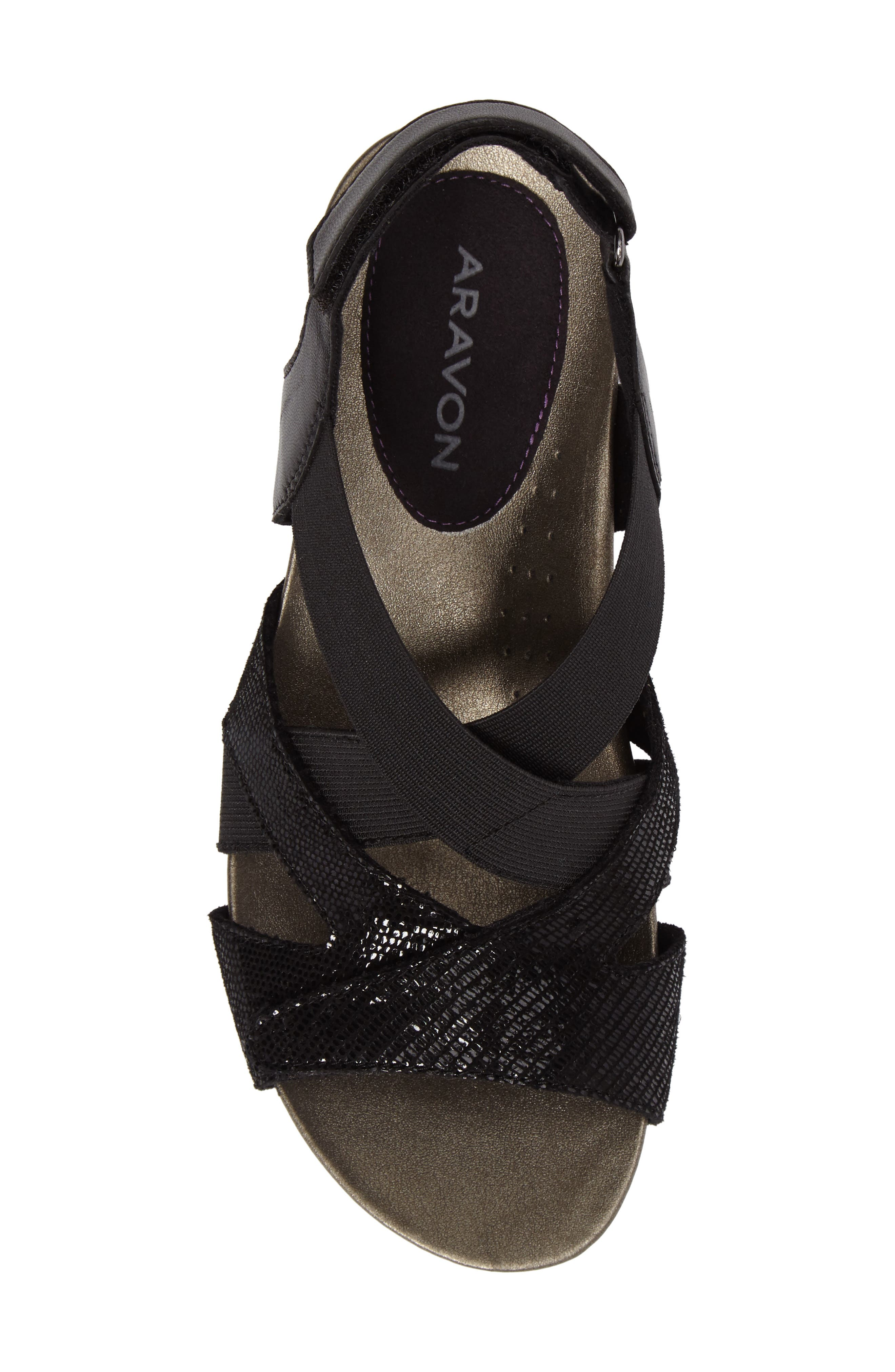 Standon Cross Strap Sandal,                             Alternate thumbnail 5, color,                             001