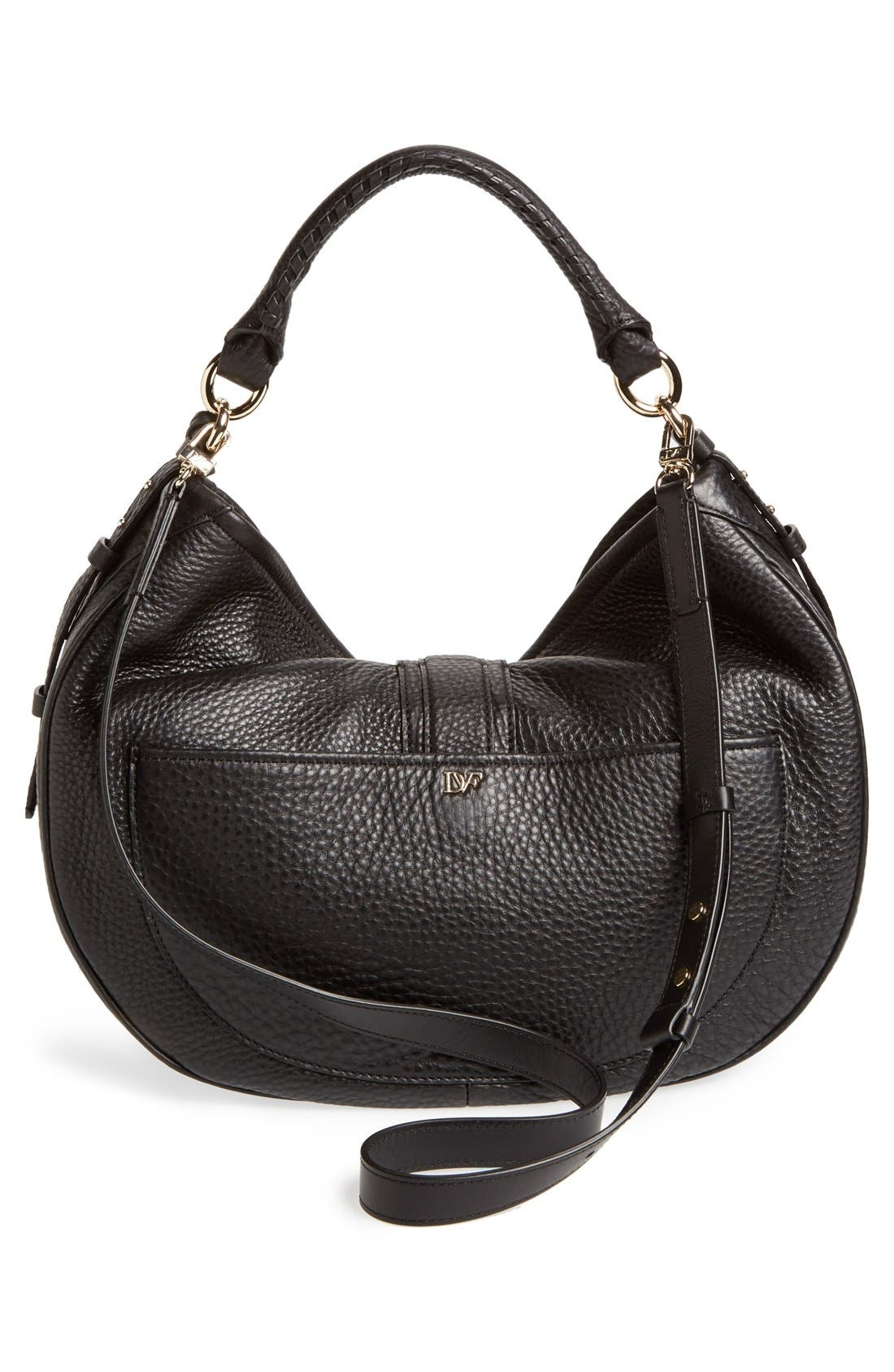 'Sutra' Leather Hobo,                             Alternate thumbnail 4, color,                             001