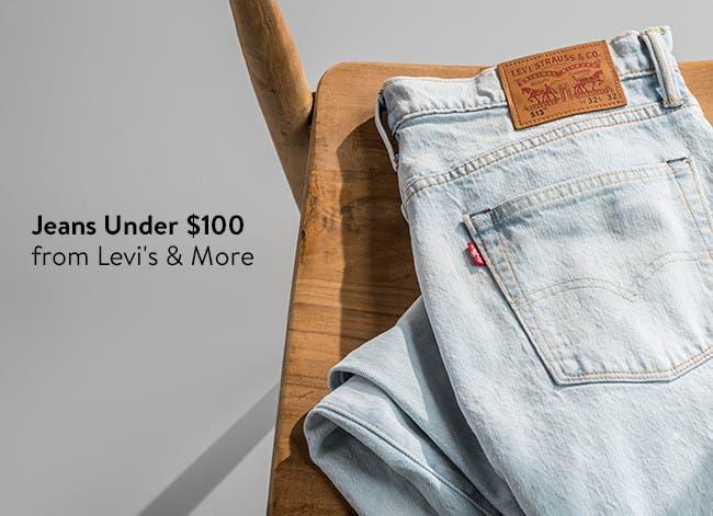 Men's jeans under $100.