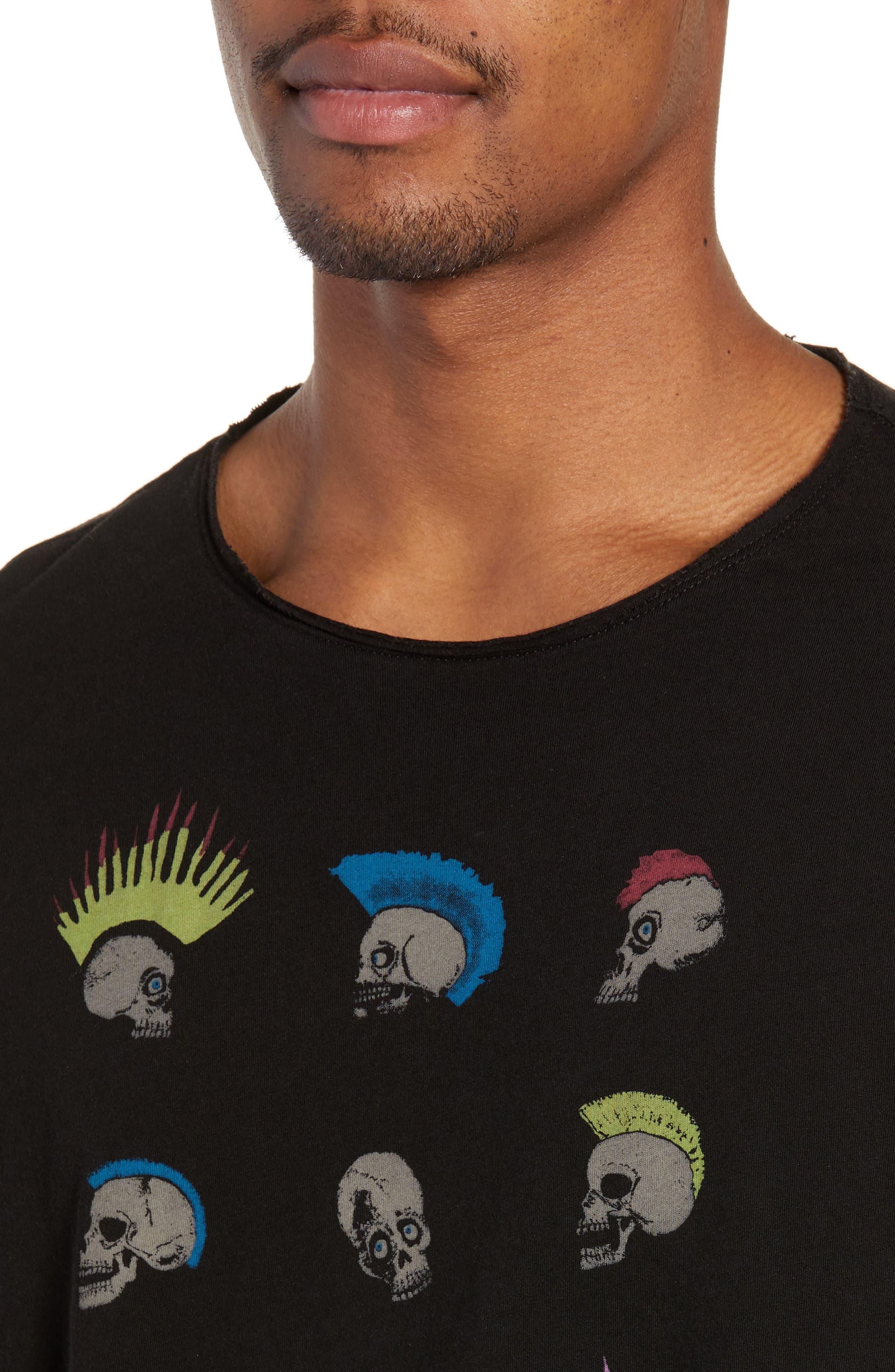 Skullhawks Graphic T-Shirt,                             Alternate thumbnail 4, color,                             BLACK