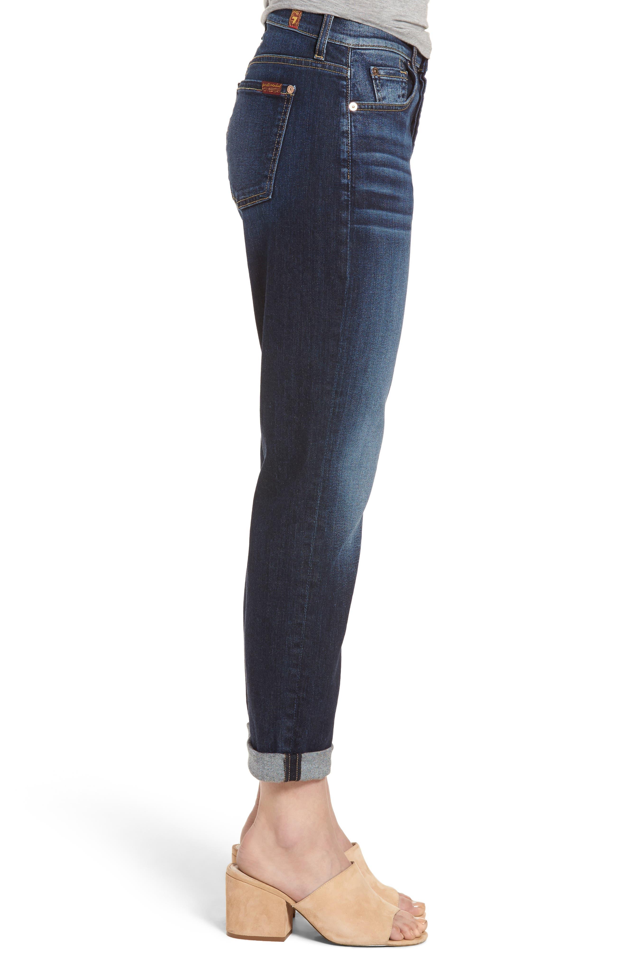 Josefina High Waist Crop Boyfriend Jeans,                             Alternate thumbnail 6, color,