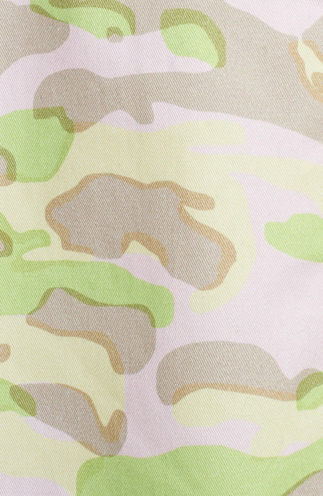 CARVEN,                             Army Print Flared Skirt,                             Alternate thumbnail 2, color,                             680