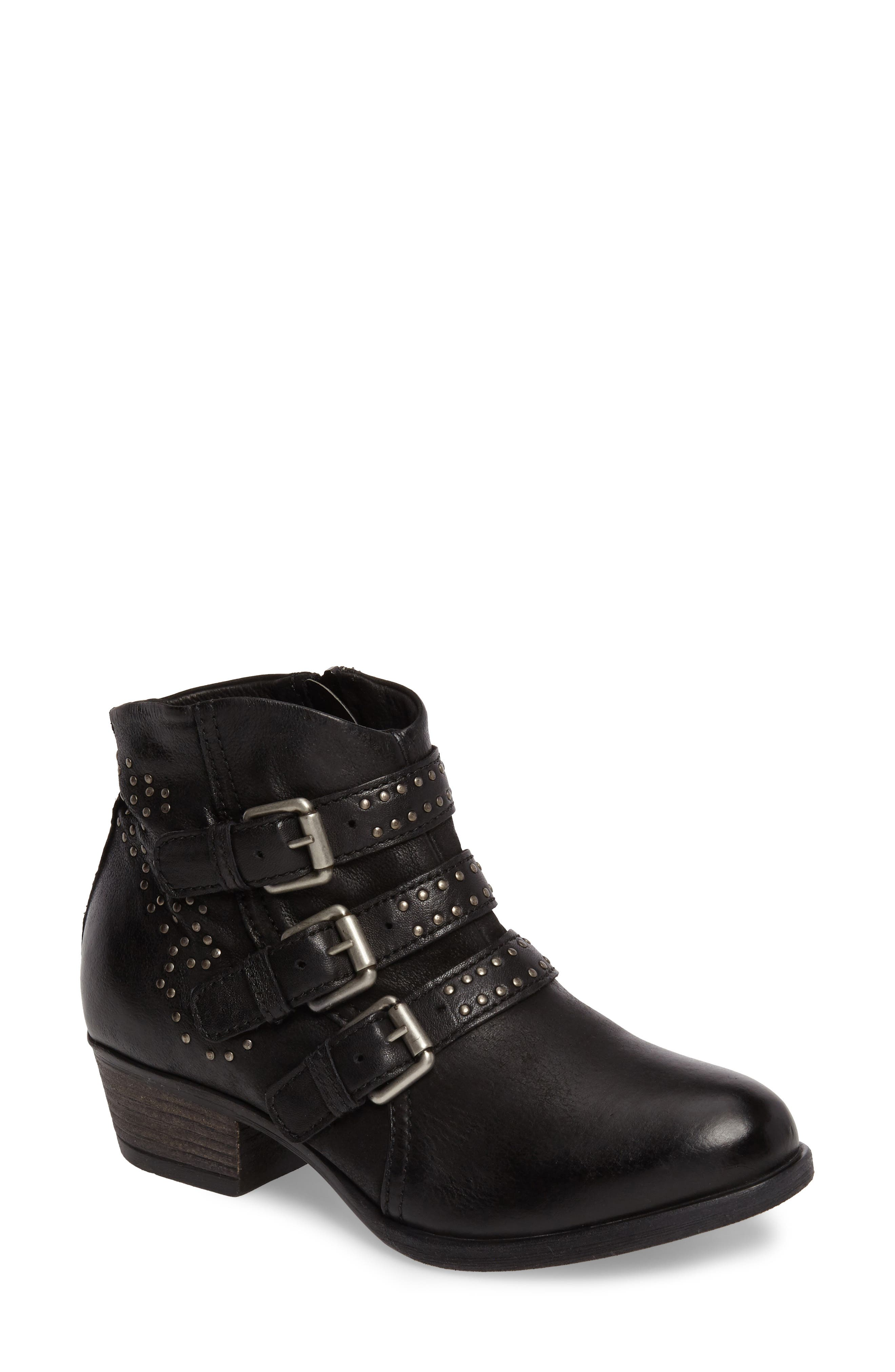 Barclay Studded Moto Bootie,                             Main thumbnail 1, color,                             001