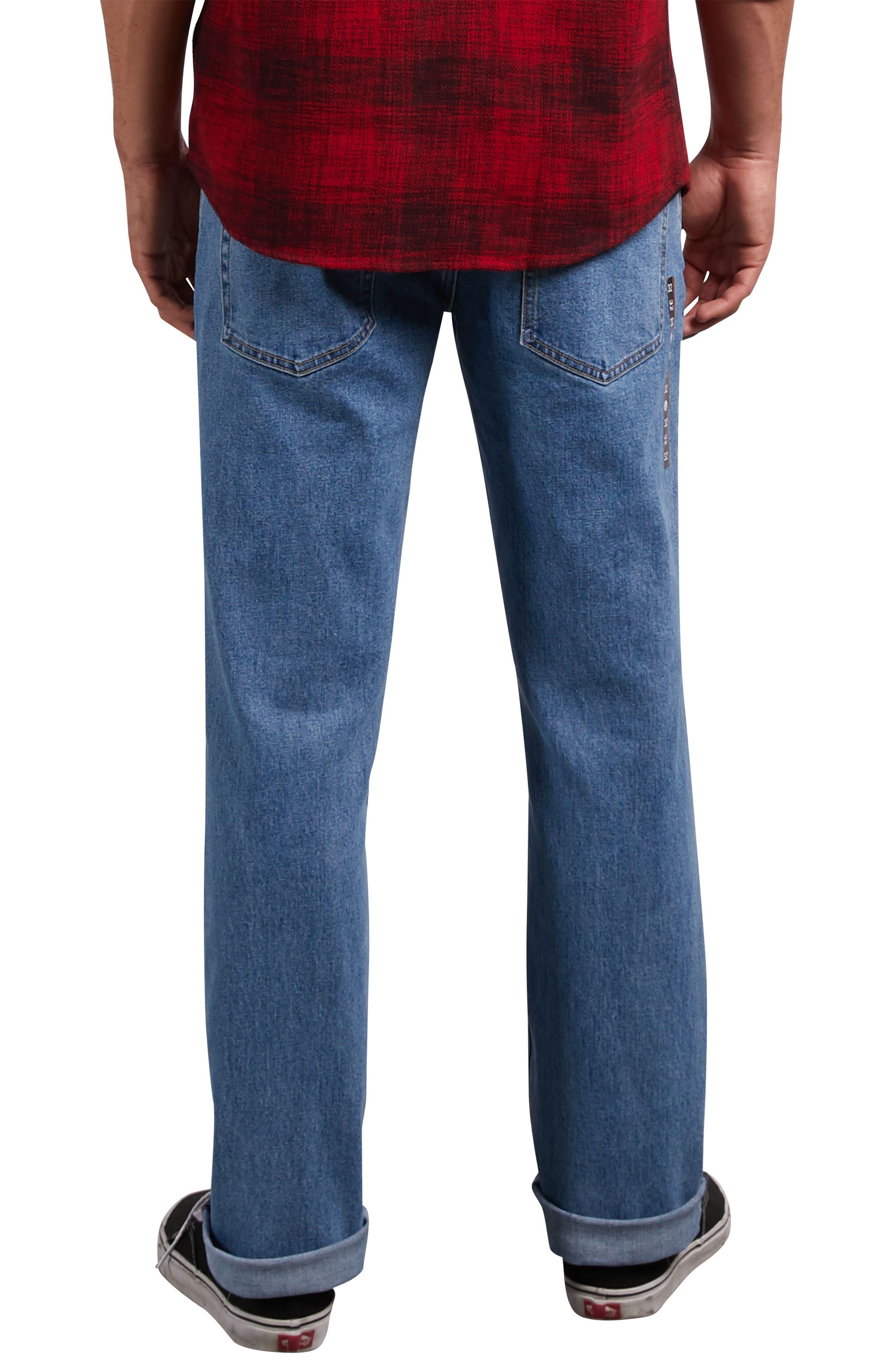 Solver Straight Leg Jeans,                             Alternate thumbnail 2, color,                             STONE BLUE