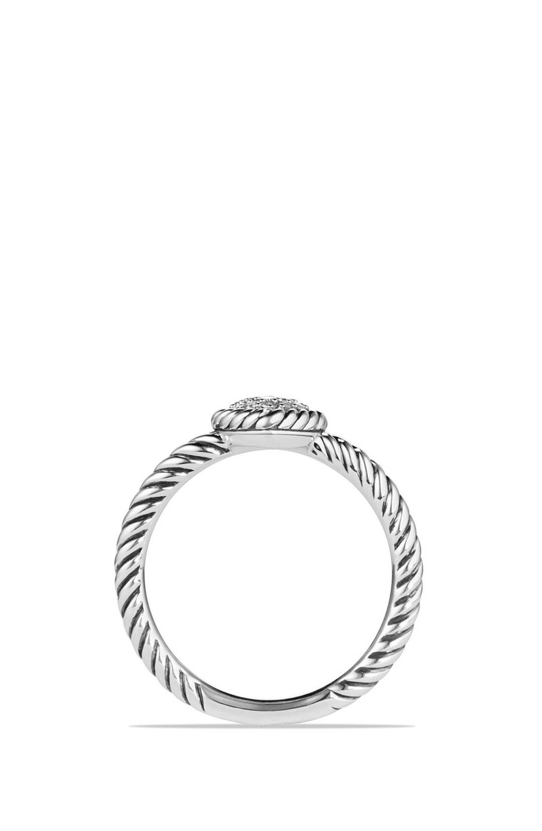 'Châtelaine' Heart Ring with Diamonds,                             Alternate thumbnail 5, color,                             SILVER