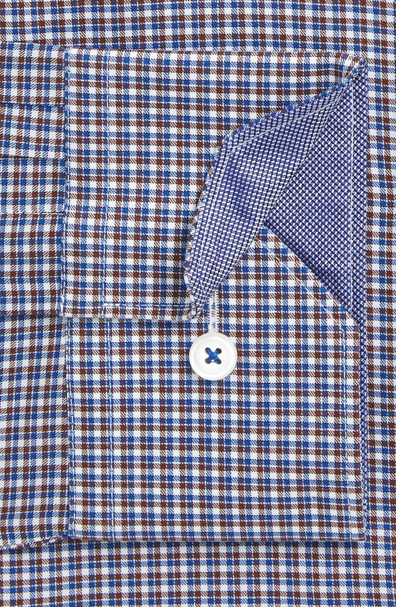 Trim Fit Plaid Dress Shirt,                         Main,                         color, 208