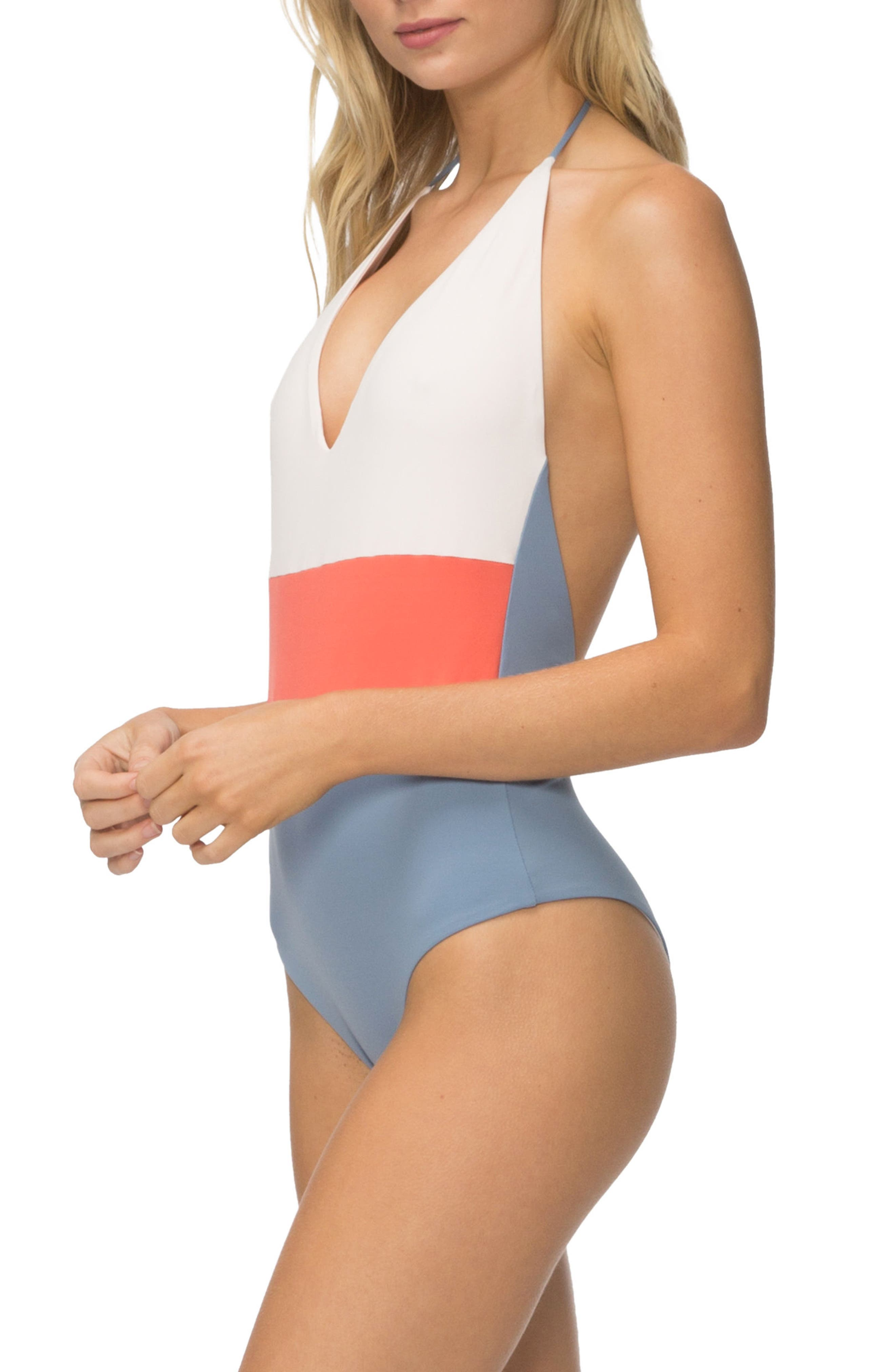 Chase One-Piece Swimsuit,                             Alternate thumbnail 6, color,