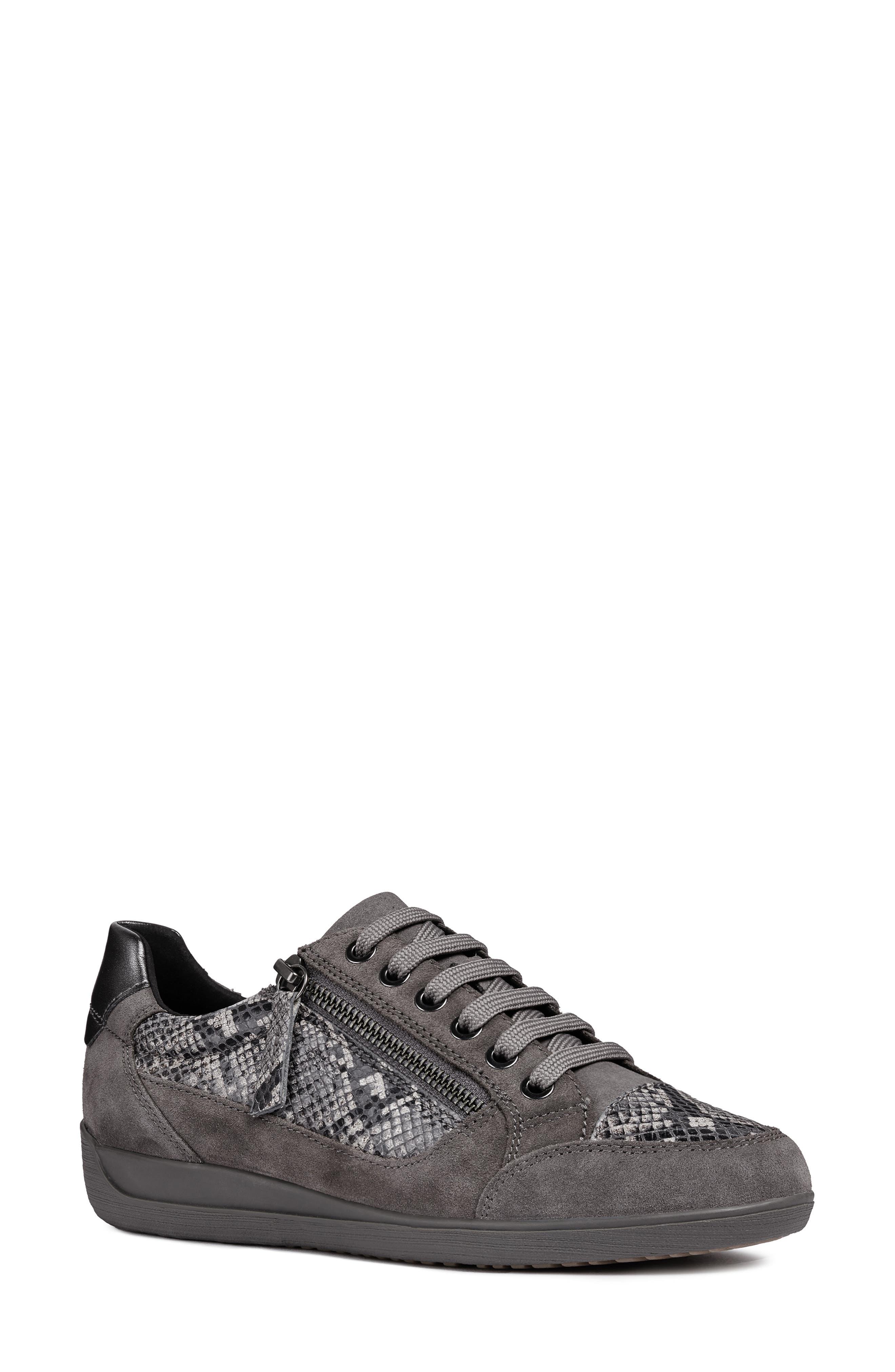 Myria Sneaker,                         Main,                         color, DARK GREY SUEDE