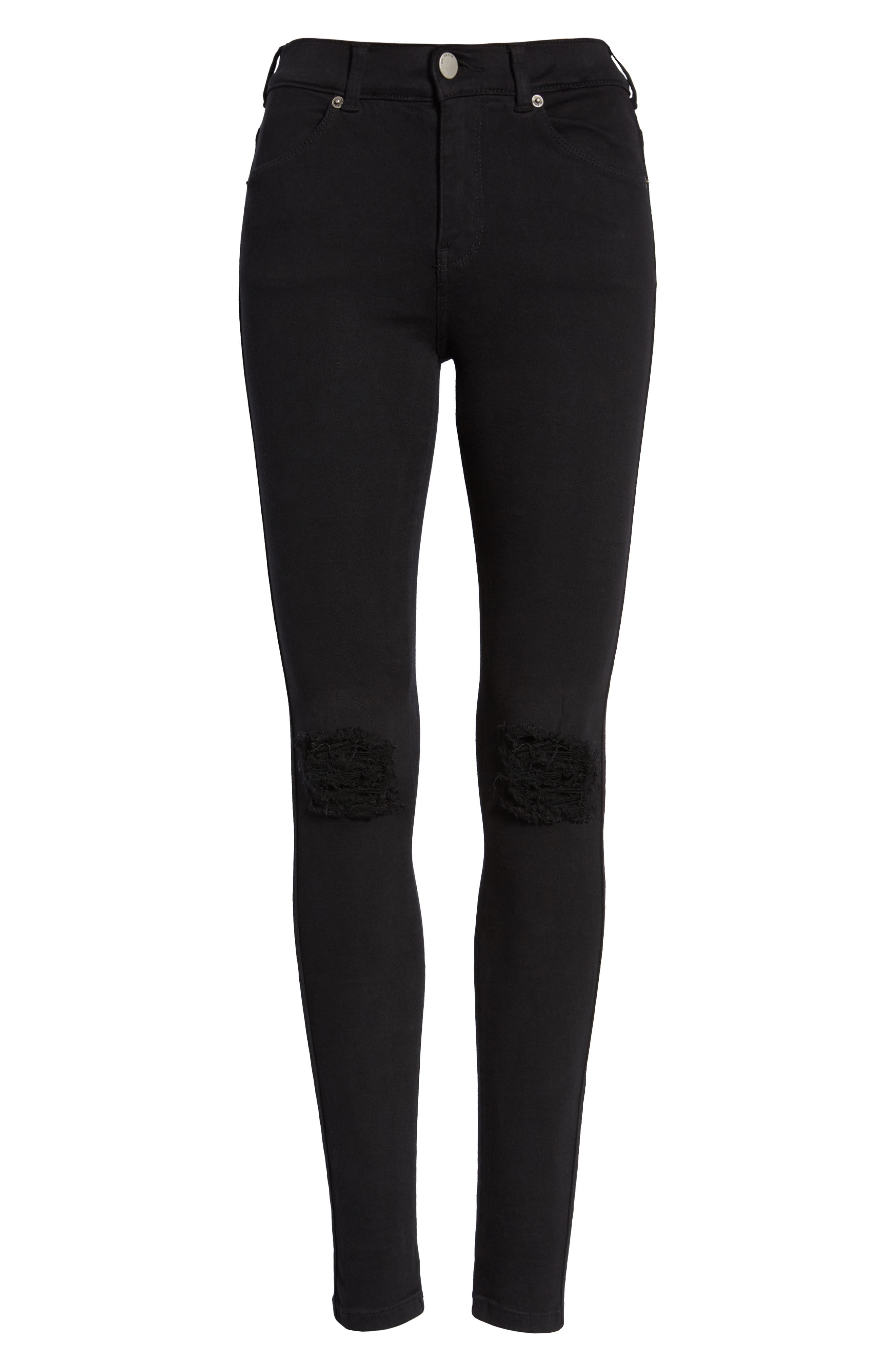 Lexy Ripped Skinny Jeans,                             Alternate thumbnail 7, color,                             001