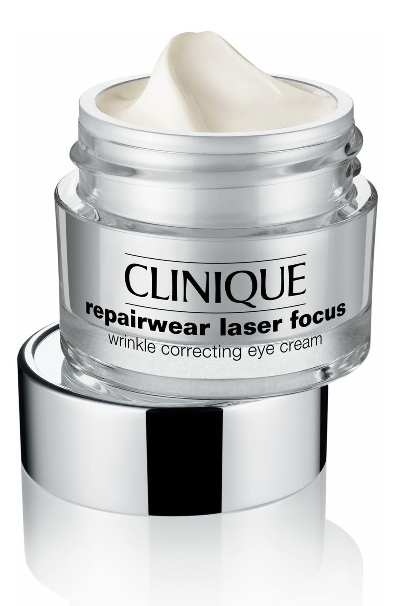 CLINIQUE,                             Repairwear Laser Focus Wrinkle Correcting Eye Cream,                             Alternate thumbnail 2, color,                             NO COLOR
