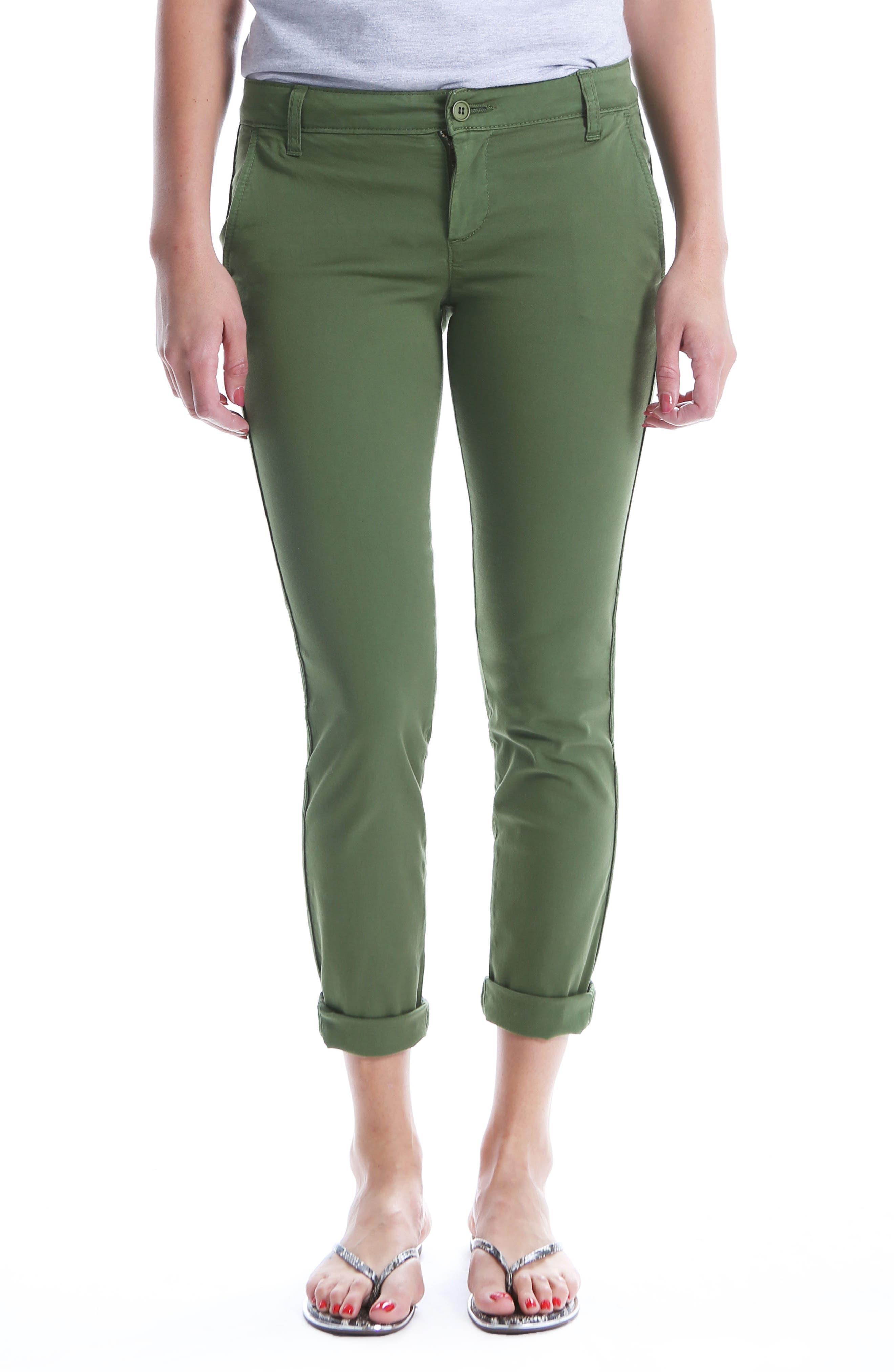 Stretch Cotton Pants,                         Main,                         color, 331