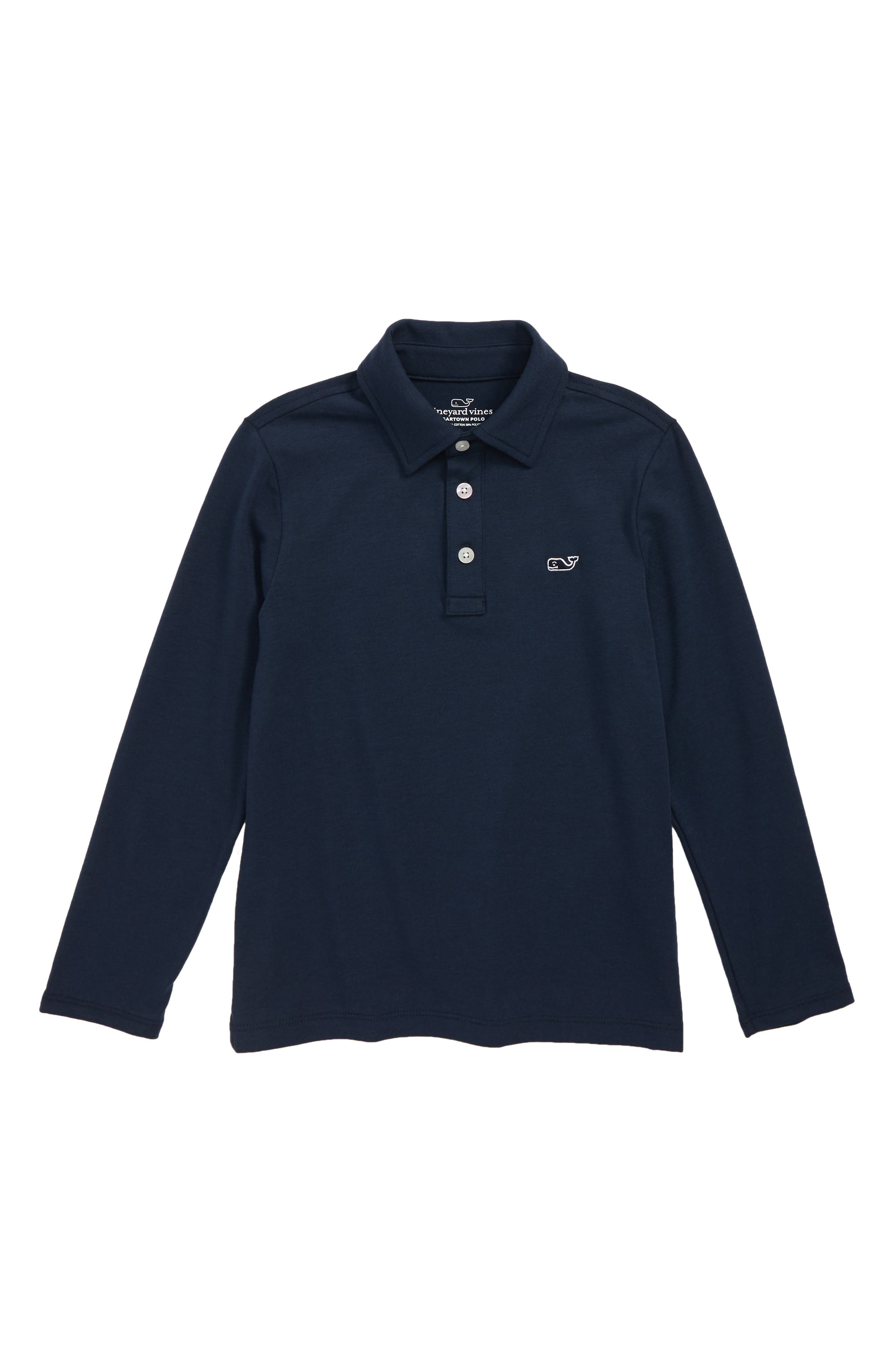 Edgartown Polo,                             Main thumbnail 1, color,                             VINEYARD NAVY
