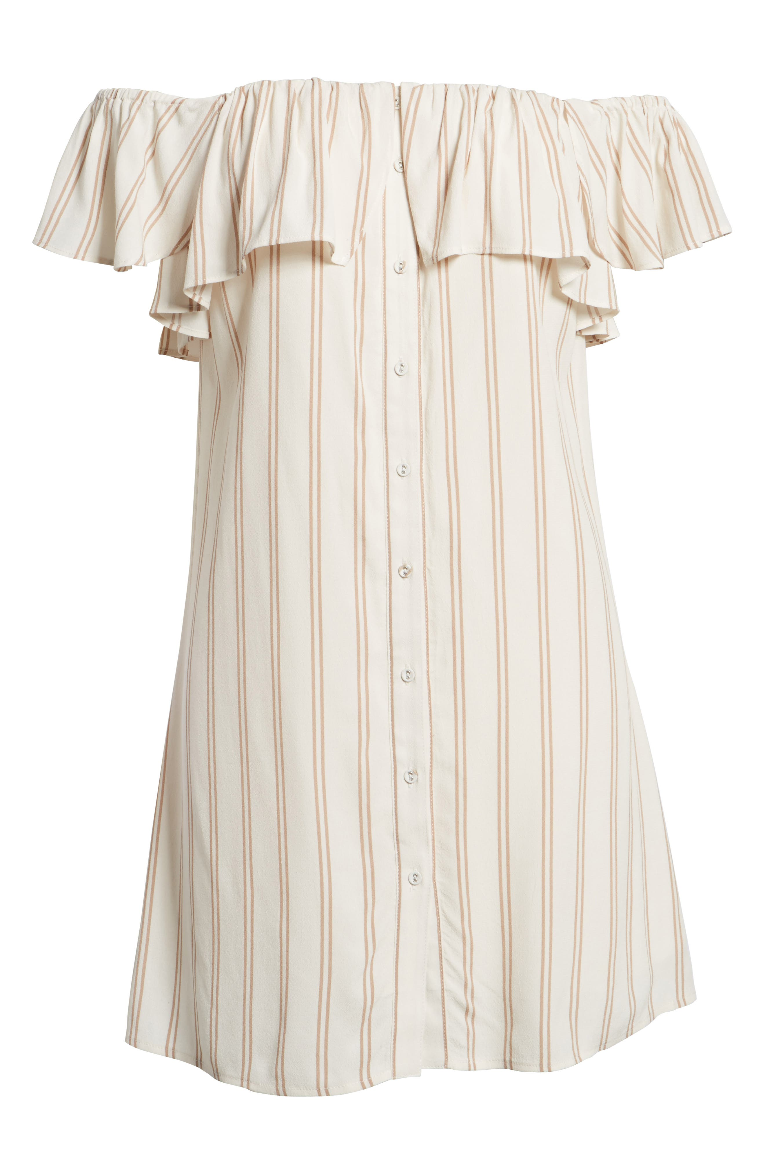 Stripe Off the Shoulder Dress,                             Alternate thumbnail 6, color,                             900