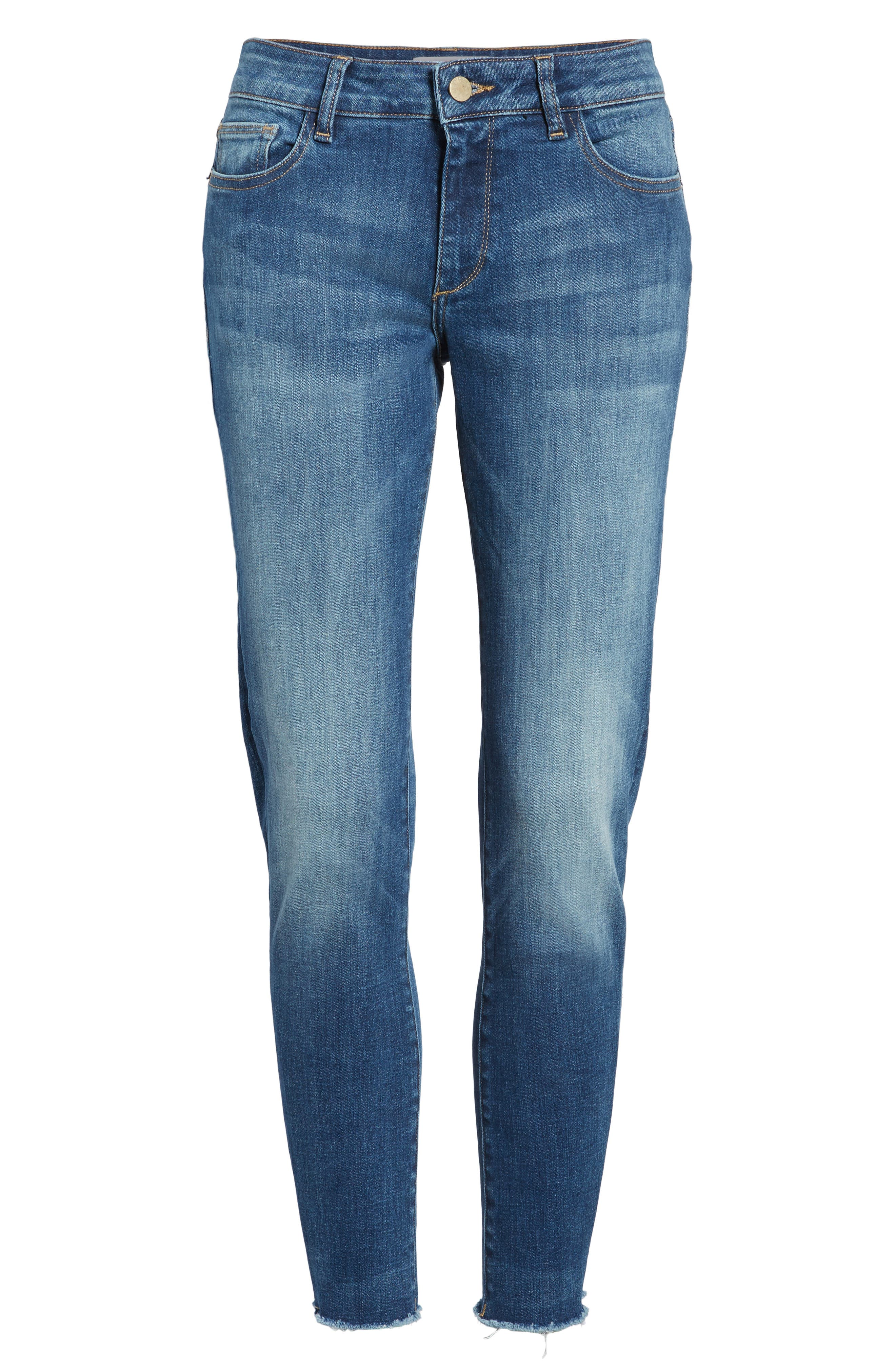 Coco Curvy Ankle Skinny Jeans,                             Alternate thumbnail 6, color,                             426