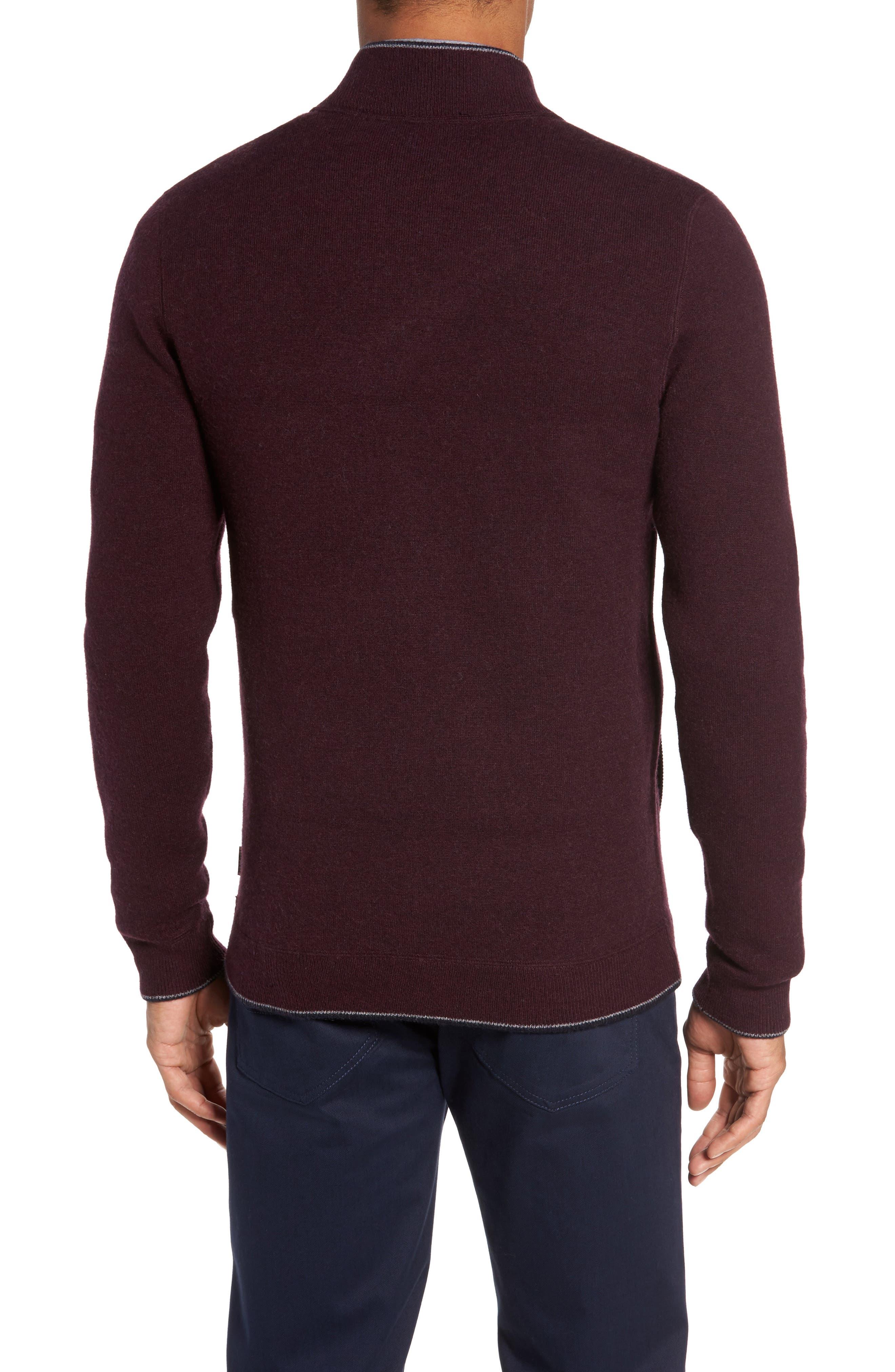 Merino Wool Baseball Sweater,                             Alternate thumbnail 4, color,