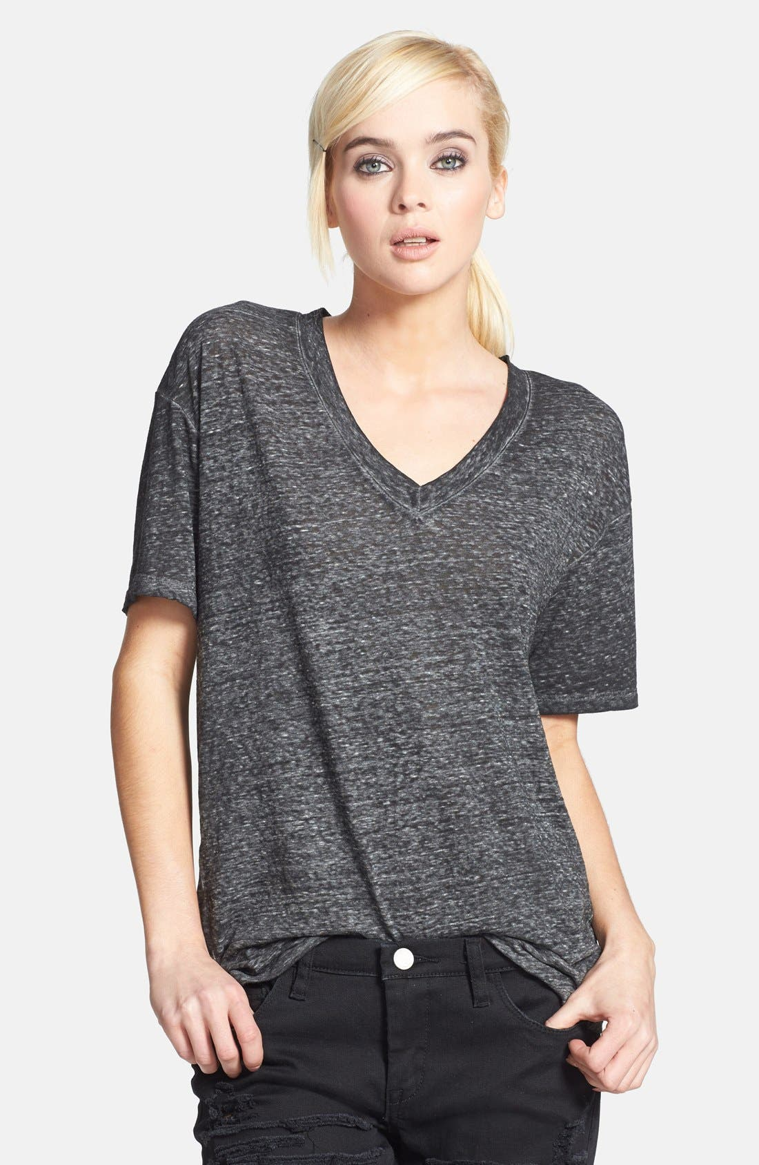 Oversized V-Neck Tee,                         Main,                         color, 010