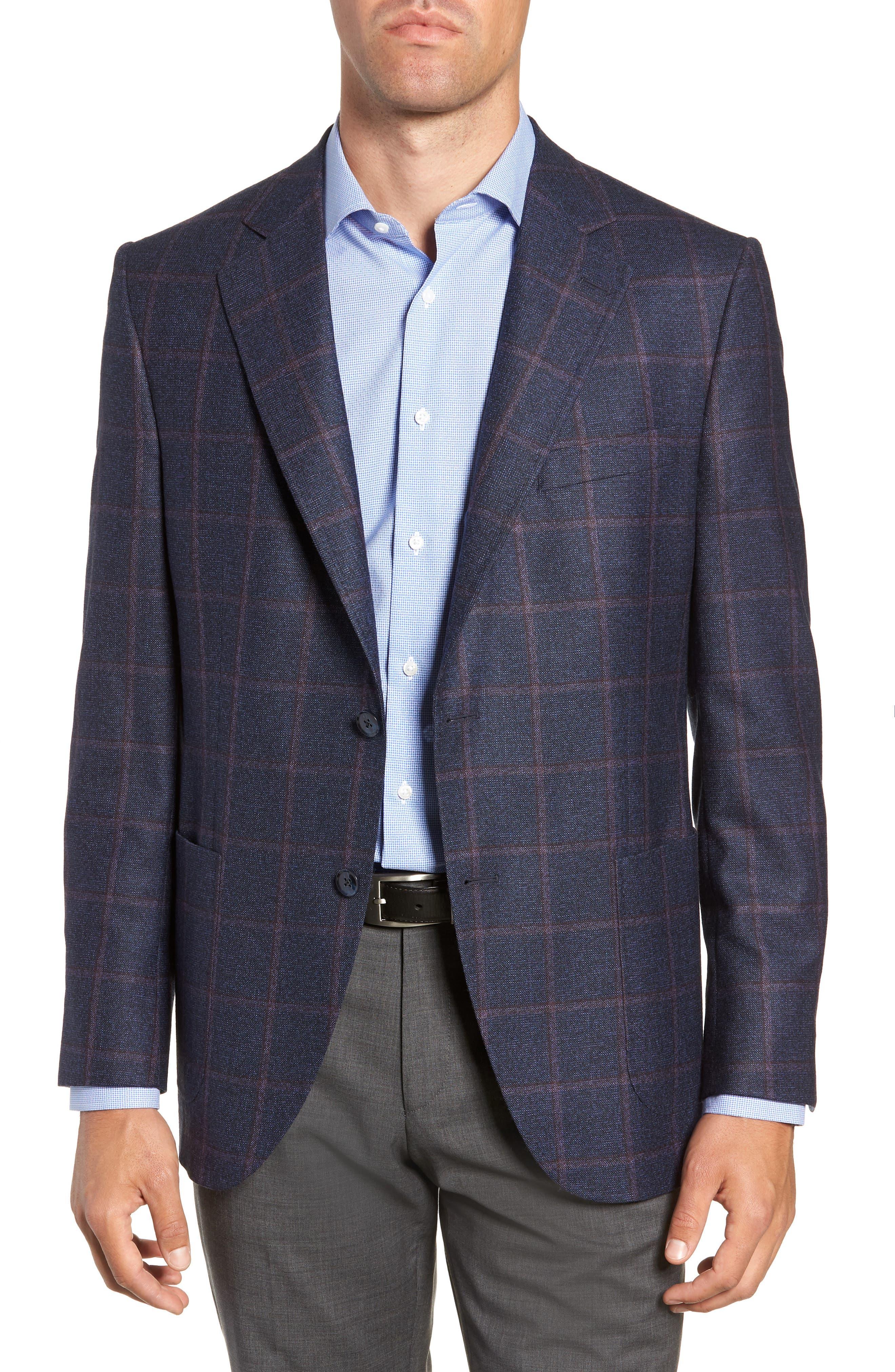 Hyperlight Classic Fit Wool Sport Coat,                             Main thumbnail 1, color,                             NAVY