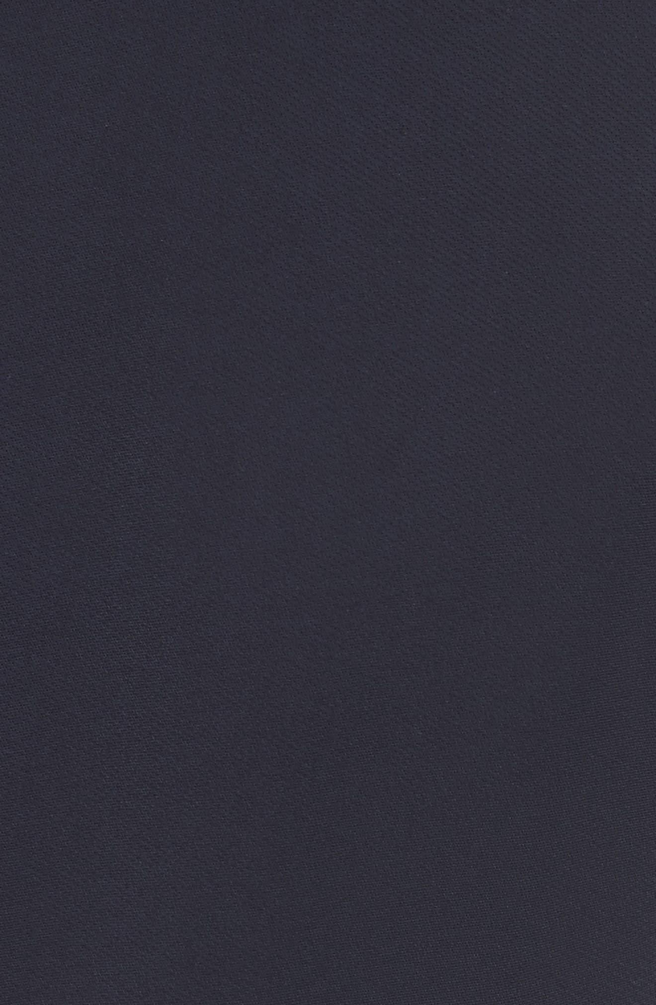 Asymmetrical Fringe Hem Dress,                             Alternate thumbnail 5, color,                             400
