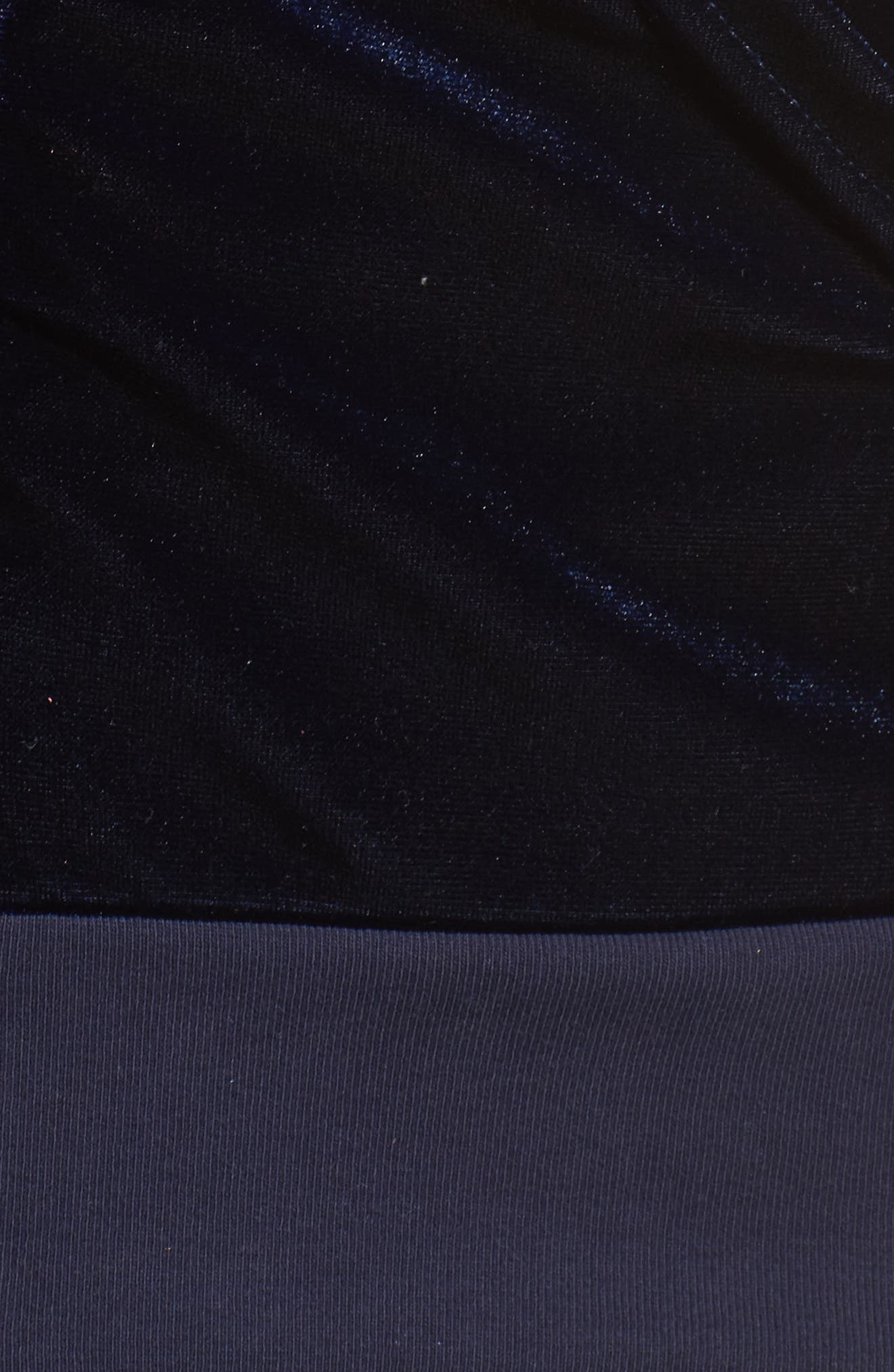Classic Velvet Hoodie,                             Alternate thumbnail 6, color,                             NAVY