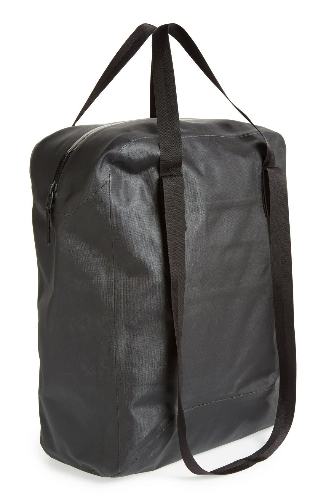 'Seque' Water Resistant Nylon Tote,                             Main thumbnail 1, color,                             001