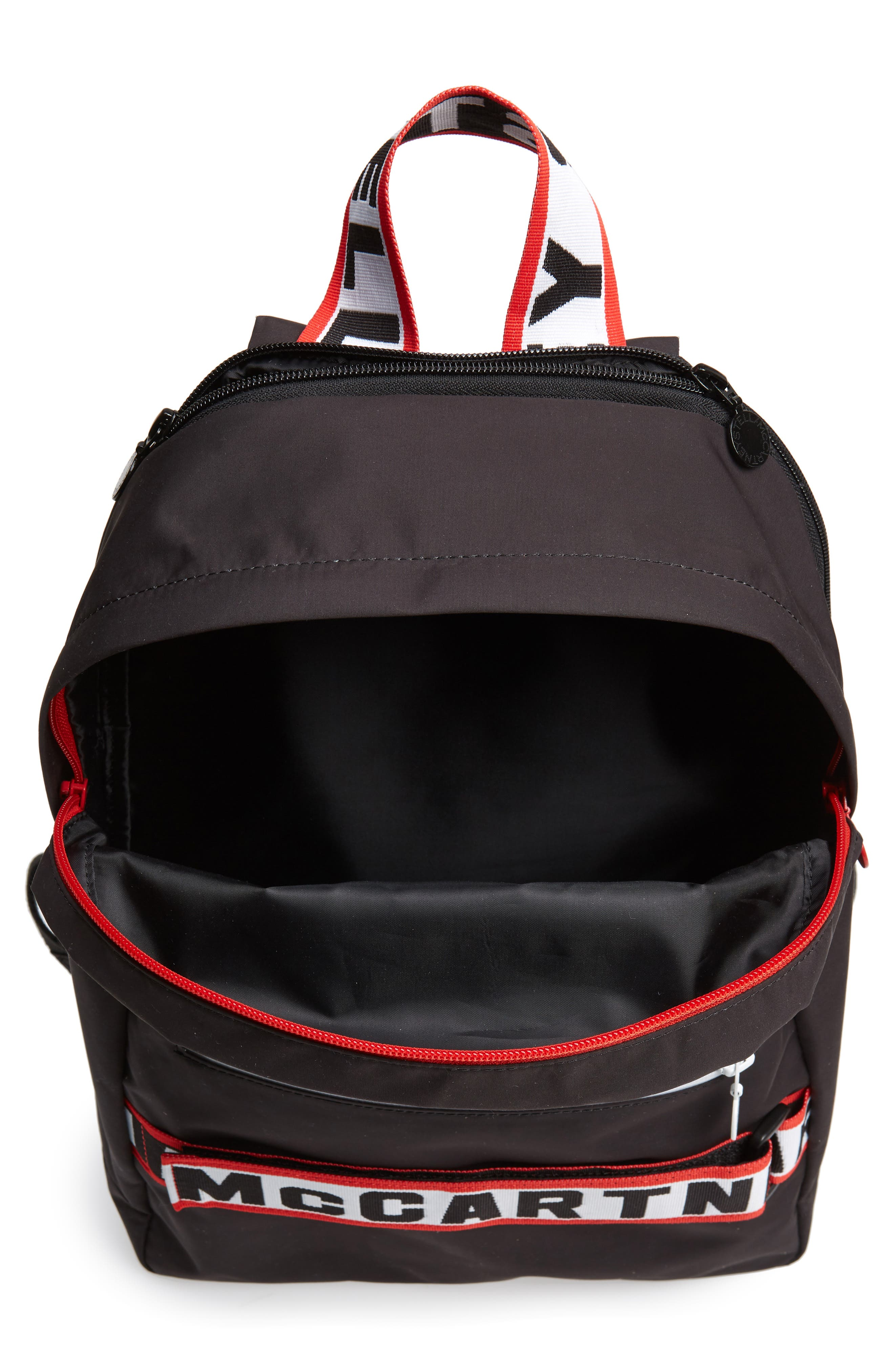 Stella Logo Backpack,                             Alternate thumbnail 3, color,                             BLACK