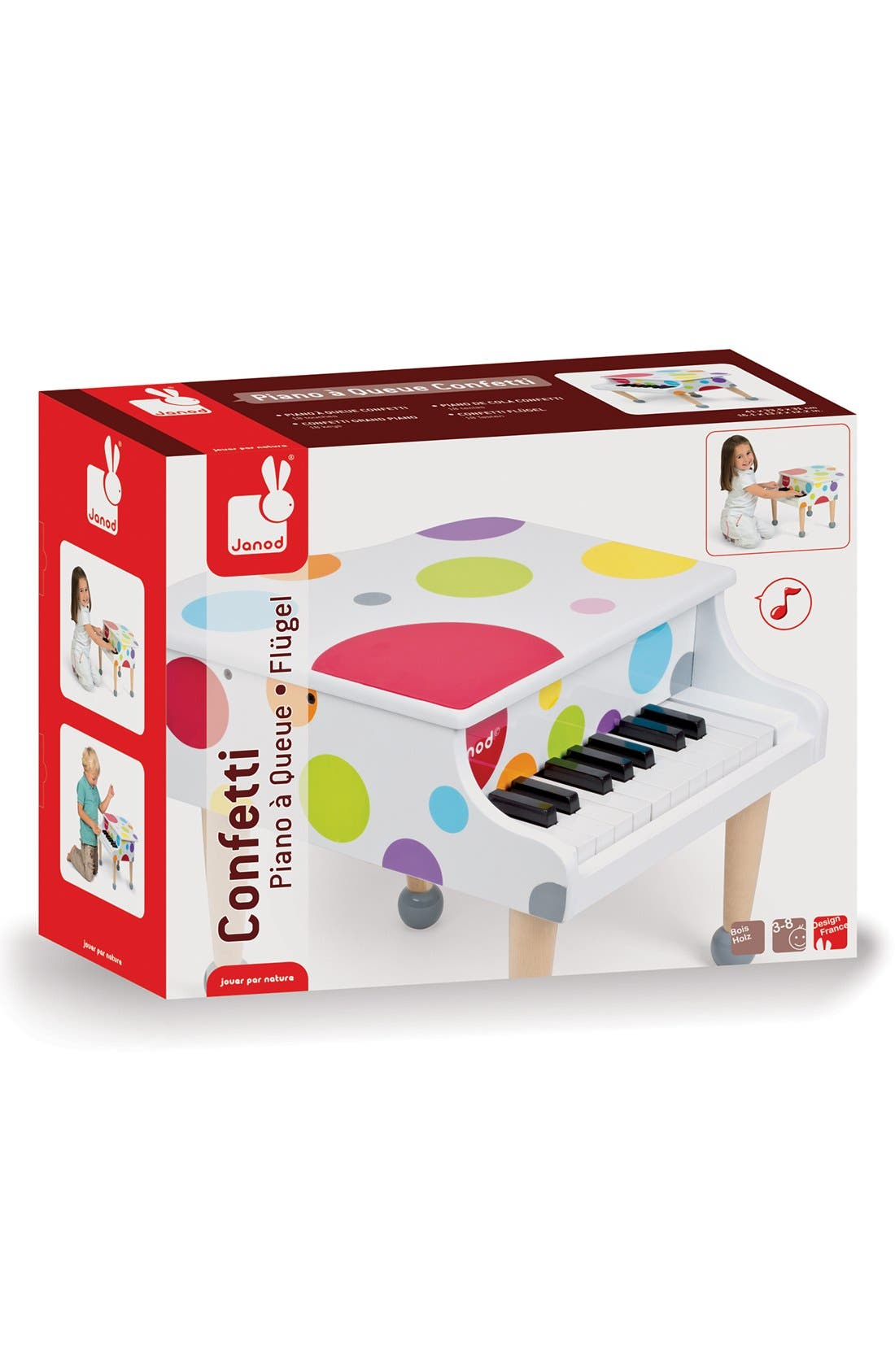 Toddler Janod Confetti Grand Piano Play Set