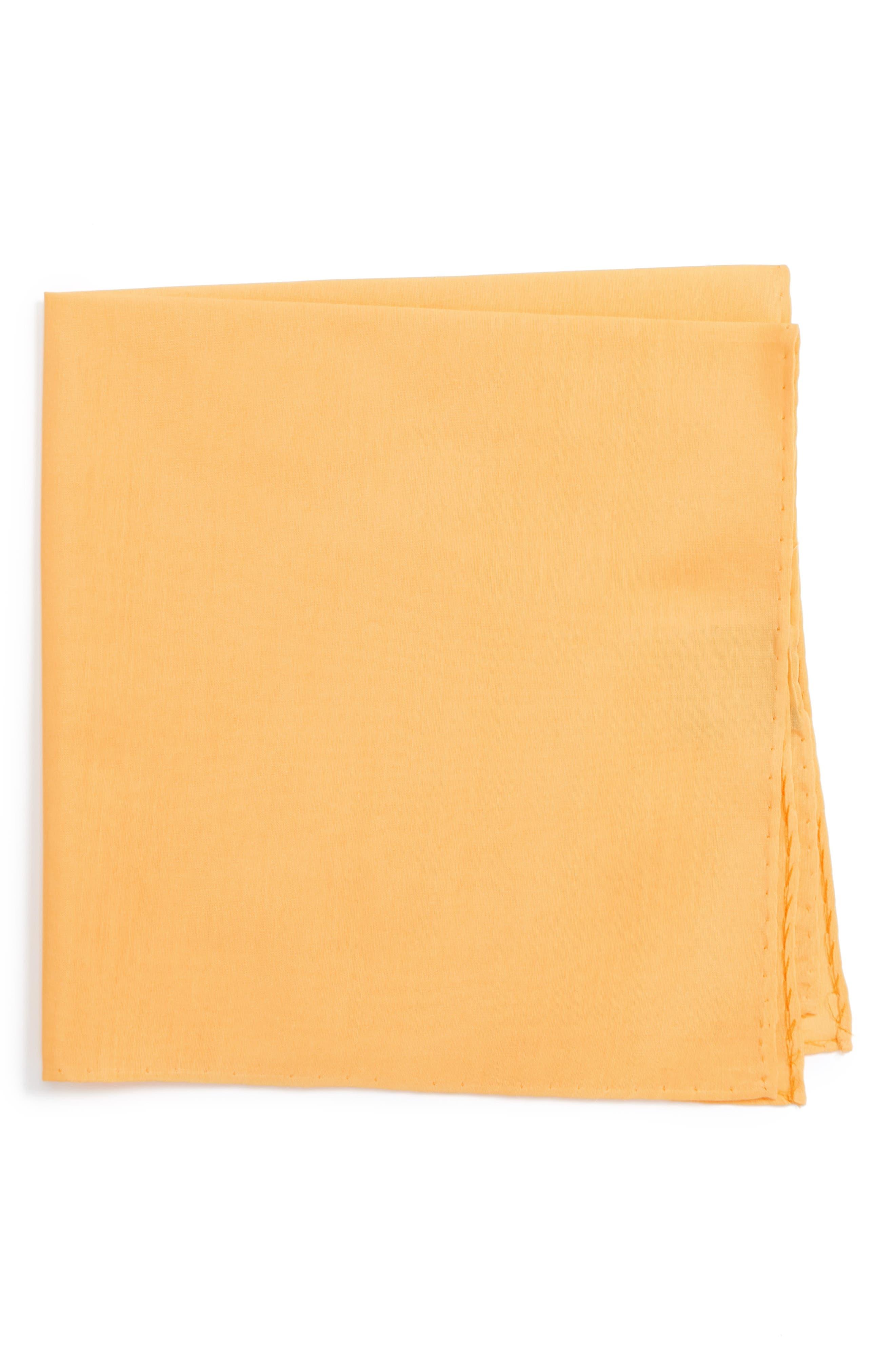 Solid Cotton & Silk Pocket Square,                             Main thumbnail 8, color,