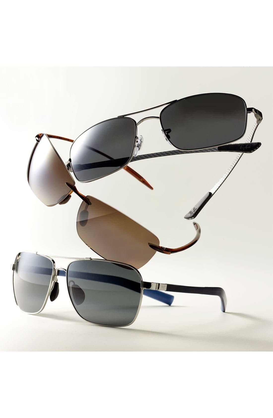 'MauiFlex - Freight Trains' PolarizedPlus<sup>®</sup> 62mm Sunglasses,                             Alternate thumbnail 4, color,                             001